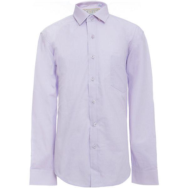 Рубашка для мальчика TsarevichБлузки и рубашки<br>Характеристики товара:<br><br>• цвет: сиреневый<br>• состав ткани: 80% хлопок, 20% полиэстер<br>• особенности: школьная, праздничная<br>• застежка: пуговицы<br>• рукава: длинные<br>• сезон: круглый год<br>• страна бренда: Российская Федерация<br>• страна изготовитель: Китай<br><br>Сорочка классического кроя для мальчика - отличный вариант практичной и стильной школьной одежды.<br><br>Классическая форма, накладной карман, воротник с отсрочкой, свободный крой, дышащая ткань с преобладанием хлопка - красиво и удобно.<br><br>Рубашку для мальчика Tsarevich (Царевич) можно купить в нашем интернет-магазине.<br>Ширина мм: 174; Глубина мм: 10; Высота мм: 169; Вес г: 157; Цвет: лиловый; Возраст от месяцев: 72; Возраст до месяцев: 84; Пол: Мужской; Возраст: Детский; Размер: 140/146,146/152,134/140,146/152,128/134,122/128,164/170,158/164,152/158,152/158; SKU: 6860677;