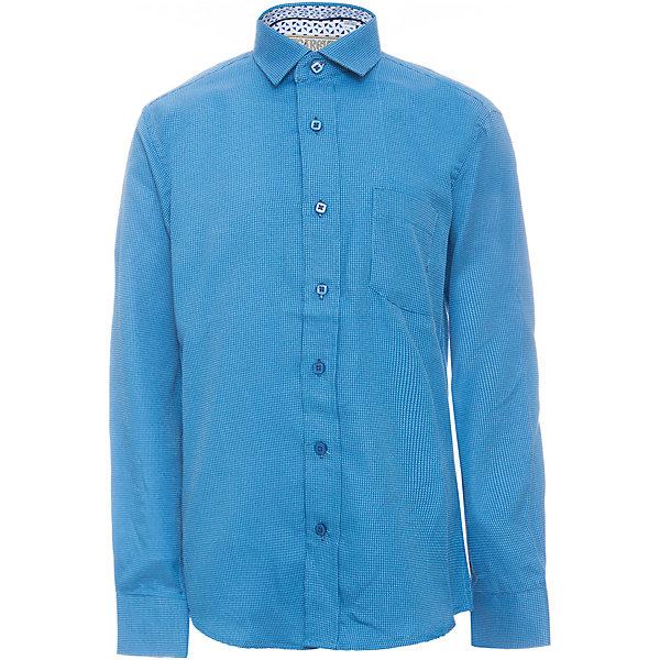 Рубашка для мальчика TsarevichБлузки и рубашки<br>Характеристики товара:<br><br>• цвет: синий<br>• состав ткани: 80% хлопок, 20% полиэстер<br>• особенности: школьная, праздничная<br>• застежка: пуговицы<br>• рукава: длинные<br>• сезон: круглый год<br>• страна бренда: Российская Федерация<br>• страна изготовитель: Китай<br><br>Классическая сорочка для мальчика - отличный вариант практичной и стильной школьной одежды.<br><br>Накладной карман, воротник с отсрочкой, свободный крой, классическая форма, дышащая ткань с преобладанием хлопка - красиво и удобно.<br><br>Рубашку для мальчика Tsarevich (Царевич) можно купить в нашем интернет-магазине.<br><br>Ширина мм: 174<br>Глубина мм: 10<br>Высота мм: 169<br>Вес г: 157<br>Цвет: голубой<br>Возраст от месяцев: 72<br>Возраст до месяцев: 84<br>Пол: Мужской<br>Возраст: Детский<br>Размер: 122/128,164/170,158/164,152/158,152/158,146/152,146/152,140/146,134/140,128/134<br>SKU: 6860721