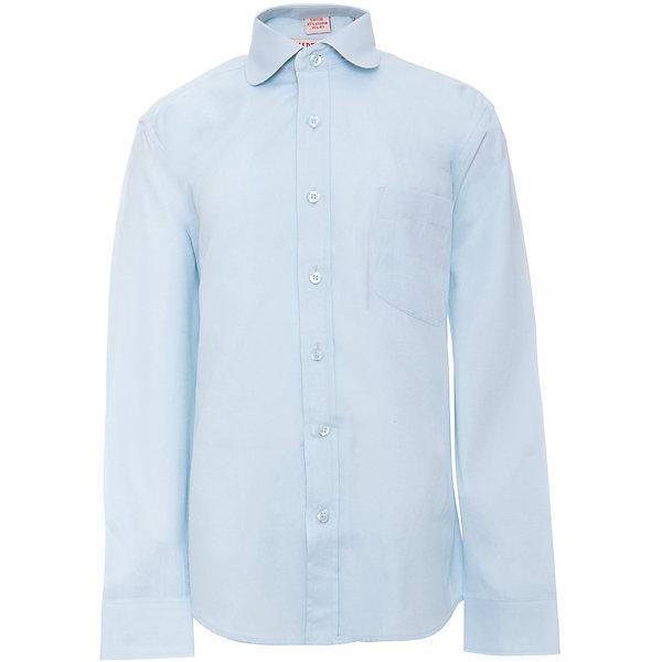 Рубашка для мальчика ImperatorБлузки и рубашки<br>Характеристики товара:<br><br>• цвет: голубой<br>• состав ткани: 65% хлопок, 35% полиэстер<br>• особенности: школьная, праздничная<br>• застежка: пуговицы<br>• рукава: длинные<br>• сезон: круглый год<br>• страна бренда: Российская Федерация<br>• страна изготовитель: Китай<br><br>Сорочка классического кроя для мальчика - отличный вариант практичной и стильной школьной одежды.<br><br>Накладной карман, свободный покрой, дышащая ткань с преобладанием хлопка - красиво и удобно.<br><br>Рубашку для мальчика Imperator (Император) можно купить в нашем интернет-магазине.<br>Ширина мм: 174; Глубина мм: 10; Высота мм: 169; Вес г: 157; Цвет: голубой; Возраст от месяцев: 120; Возраст до месяцев: 132; Пол: Мужской; Возраст: Детский; Размер: 146/152,164/170,122/128,128/134,134/140,140/146,146/152,152/158,152/158,158/164; SKU: 6860732;