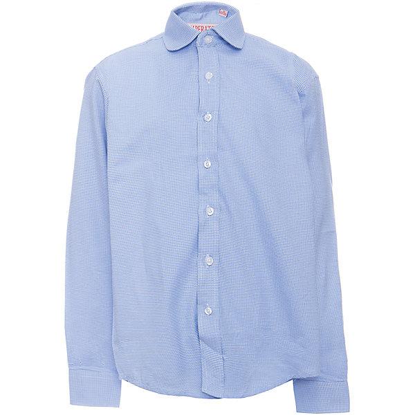 Рубашка для мальчика ImperatorБлузки и рубашки<br>Характеристики товара:<br><br>• цвет: голубой<br>• состав ткани: 65% хлопок, 35% полиэстер<br>• особенности: школьная, праздничная<br>• застежка: пуговицы<br>• рукава: длинные<br>• сезон: круглый год<br>• страна бренда: Российская Федерация<br>• страна изготовитель: Китай<br><br>Сорочка классического кроя для мальчика - отличный вариант практичной и стильной школьной одежды.<br><br>Накладной карман, свободный покрой, дышащая ткань с преобладанием хлопка - красиво и удобно.<br><br>Рубашку для мальчика Imperator (Император) можно купить в нашем интернет-магазине.<br>Ширина мм: 174; Глубина мм: 10; Высота мм: 169; Вес г: 157; Цвет: голубой; Возраст от месяцев: 72; Возраст до месяцев: 84; Пол: Мужской; Возраст: Детский; Размер: 122/128,164/170,128/134,134/140,140/146,146/152,146/152,152/158,152/158,158/164; SKU: 6860743;
