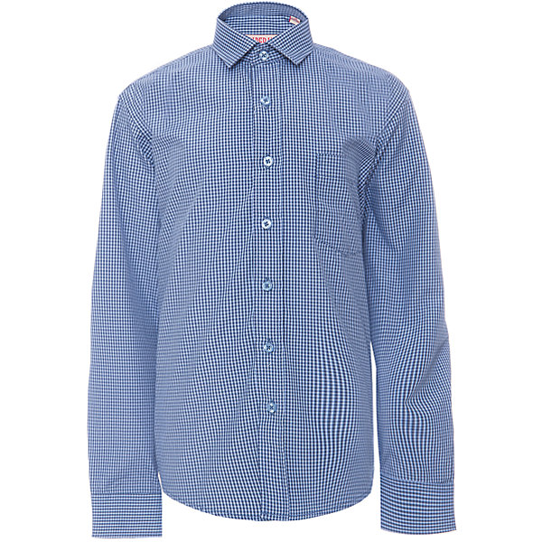 Рубашка для мальчика ImperatorБлузки и рубашки<br>Характеристики товара:<br><br>• цвет: синий<br>• состав ткани: 65% хлопок, 35% полиэстер<br>• особенности: школьная, праздничная<br>• застежка: пуговицы<br>• рукава: длинные<br>• сезон: круглый год<br>• страна бренда: Российская Федерация<br>• страна изготовитель: Китай<br><br>Сорочка классического кроя для мальчика - отличный вариант практичной и стильной школьной одежды.<br><br>Накладной карман, свободный покрой, дышащая ткань с преобладанием хлопка - красиво и удобно.<br><br>Рубашку для мальчика Imperator (Император) можно купить в нашем интернет-магазине.<br>Ширина мм: 174; Глубина мм: 10; Высота мм: 169; Вес г: 157; Цвет: синий; Возраст от месяцев: 144; Возраст до месяцев: 156; Пол: Мужской; Возраст: Детский; Размер: 158/164,122/128,164/170,152/158,152/158,146/152,146/152,140/146,134/140,128/134; SKU: 6860765;