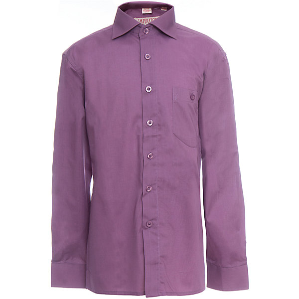 Рубашка для мальчика ImperatorБлузки и рубашки<br>Характеристики товара:<br><br>• цвет: фиолетовый<br>• состав ткани: 55% хлопок, 45% полиэстер<br>• особенности: школьная, праздничная<br>• застежка: пуговицы<br>• рукава: длинные<br>• сезон: круглый год<br>• страна бренда: Российская Федерация<br>• страна изготовитель: Китай<br><br>Стильная классическая сорочка для мальчика - отличный вариант практичной и стильной школьной одежды..<br><br>Накладной карман, свободный покрой, дышащая ткань с преобладанием хлопка - красиво и удобно.<br><br>Рубашку для мальчика Imperator (Император) можно купить в нашем интернет-магазине.<br>Ширина мм: 174; Глубина мм: 10; Высота мм: 169; Вес г: 157; Цвет: лиловый; Возраст от месяцев: 96; Возраст до месяцев: 108; Пол: Мужской; Возраст: Детский; Размер: 128/134,122/128,134/140,164/170,158/164,152/158,152/158,146/152,146/152,140/146; SKU: 6860842;