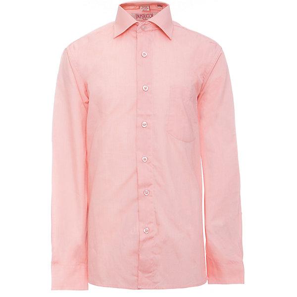 Рубашка для мальчика ImperatorБлузки и рубашки<br>Характеристики товара:<br><br>• цвет: коралловый<br>• состав ткани: 55% хлопок, 45% полиэстер<br>• особенности: школьная, праздничная<br>• застежка: пуговицы<br>• рукава: длинные<br>• сезон: круглый год<br>• страна бренда: Российская Федерация<br>• страна изготовитель: Китай<br><br>Классическая сорочка для мальчика - отличный вариант практичной и стильной школьной одежды.<br><br>Накладной карман, свободный покрой, дышащая ткань с преобладанием хлопка - красиво и удобно.<br><br>Рубашку для мальчика Imperator (Император) можно купить в нашем интернет-магазине.<br><br>Ширина мм: 174<br>Глубина мм: 10<br>Высота мм: 169<br>Вес г: 157<br>Цвет: розовый<br>Возраст от месяцев: 72<br>Возраст до месяцев: 84<br>Пол: Мужской<br>Возраст: Детский<br>Размер: 122/128,164/170,158/164,152/158,152/158,146/152,146/152,140/146,134/140,128/134<br>SKU: 6860853