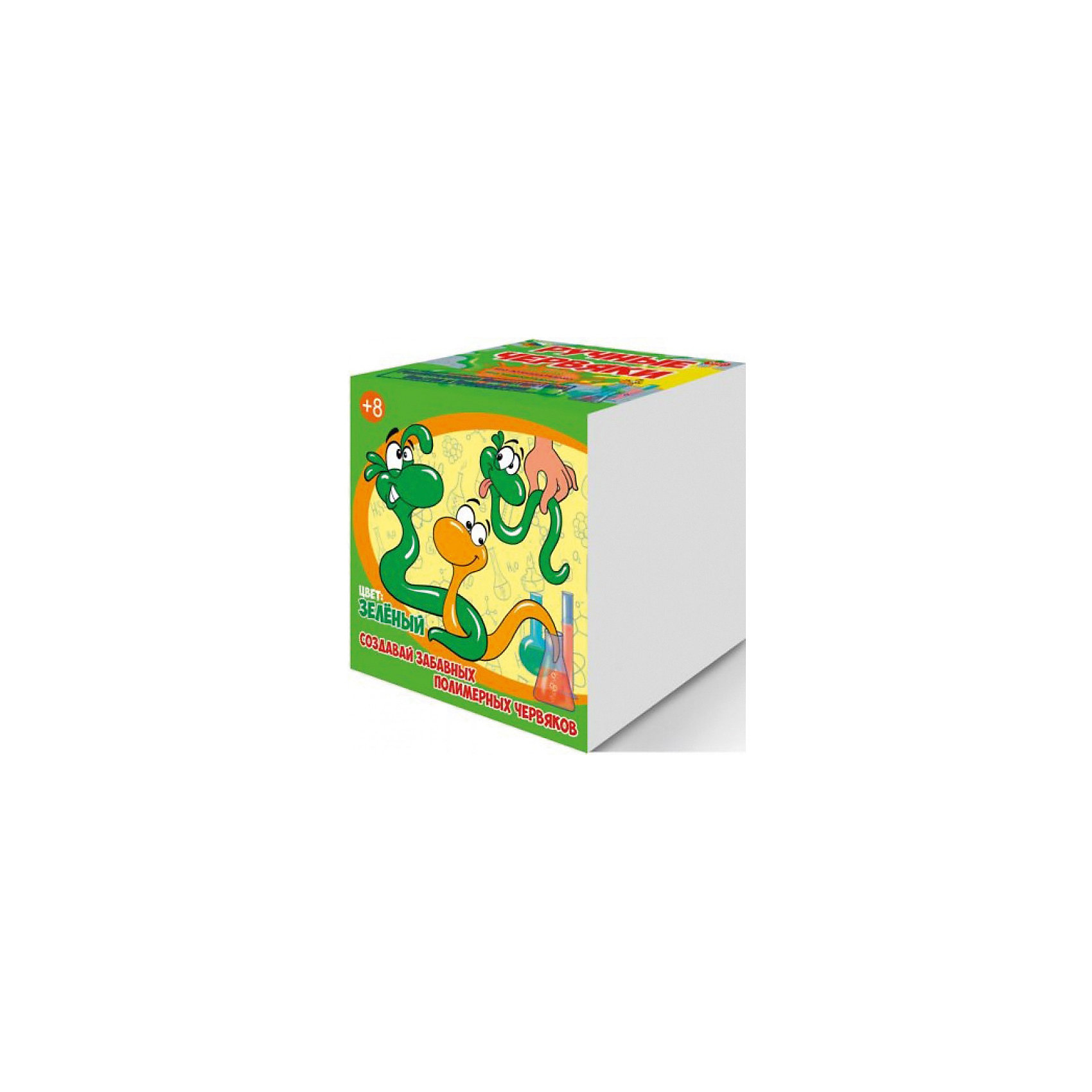 Набор для опытов Цветные полимерные червяки, цвет зеленый, GOOD FUNХимия<br>Характеристики:<br><br>• возраст: от 8 лет<br>• в наборе: альгинат натрия, хлорид кальция, краситель, пластиковый мерный стаканчик, пластиковый цветной стаканчик, перчатки, мерная ложечка, 2 палочки для размешивания, шприц без иглы, инструкция<br>• дополнительно потребуется: стеклянная банка объемом не менее 0,5 л.<br>• для проведения опыта необходима помощь взрослых<br>• упаковка: картонная коробка<br>• размер упаковки: 12,5х12,5х12,5 см.<br>• вес: 200 гр.<br><br>Набор для опытов «Цветные полимерные червяки» позволит ребенку не только весело и с пользой провести время за приготовлением длинных червяков зеленого цвета, но и познакомится с веществами, которые обладают необычными свойствами - полимерами.<br><br>В набор входят реактивы и приспособления для изготовления полимерных червяков. Эксперимент прост, не надо ничего нагревать и долго ждать, поэтому ребенок справится самостоятельно. Но контроль со стороны взрослых обязателен. Реагенты, входящие в состав, являются пищевыми добавками, поэтому процедура максимально безопасна. Готовых червяков можно растягивать, завязывать в узлы, заплетать в косички.<br><br>Набор для опытов «Цветные полимерные червяки» от GOOD FUN (ГУД ФАН) – это легко, познавательно и увлекательно.<br><br>Набор для опытов Цветные полимерные червяки, цвет зеленый, GOOD FUN (ГУД ФАН) можно купить в нашем интернет-магазине.<br><br>Ширина мм: 125<br>Глубина мм: 125<br>Высота мм: 125<br>Вес г: 250<br>Возраст от месяцев: 96<br>Возраст до месяцев: 2147483647<br>Пол: Унисекс<br>Возраст: Детский<br>SKU: 6863125