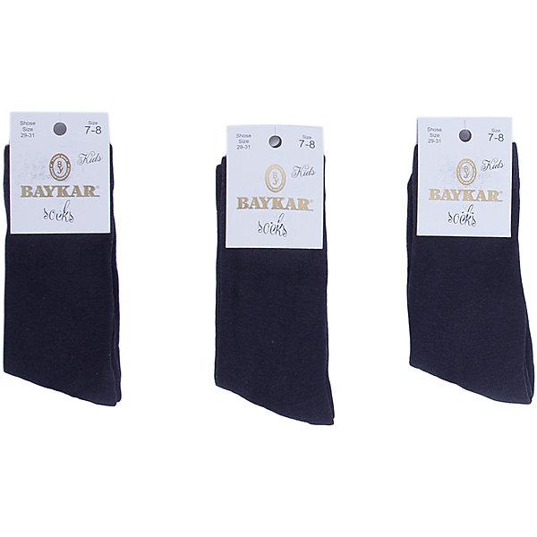 Носки ( 3 пары) BaykarНоски<br>Характеристики товара:<br><br>• цвет: серый<br>• состав ткани: 75% хлопок; 22% полиамид; 3% эластан<br>• комплектация: 3 пары<br>• сезон: круглый год<br>• страна бренда: Турция<br>• страна изготовитель: Турция<br><br>Набор серых носков от турецкого бренда Baykar создан специально для детей. Мягкие хлопковые носки дают коже дышать, хорошо впитывают влагу. <br><br>Мягкая резинка не давит на ногу. Качественные носки - залог комфорта ребенка. <br><br>Носки (3 пары) Baykar (Байкар) можно купить в нашем интернет-магазине.<br><br>Ширина мм: 87<br>Глубина мм: 10<br>Высота мм: 105<br>Вес г: 115<br>Цвет: серый<br>Возраст от месяцев: 108<br>Возраст до месяцев: 132<br>Пол: Унисекс<br>Возраст: Детский<br>Размер: 20-22,18-20,24-26,22-24<br>SKU: 6863924