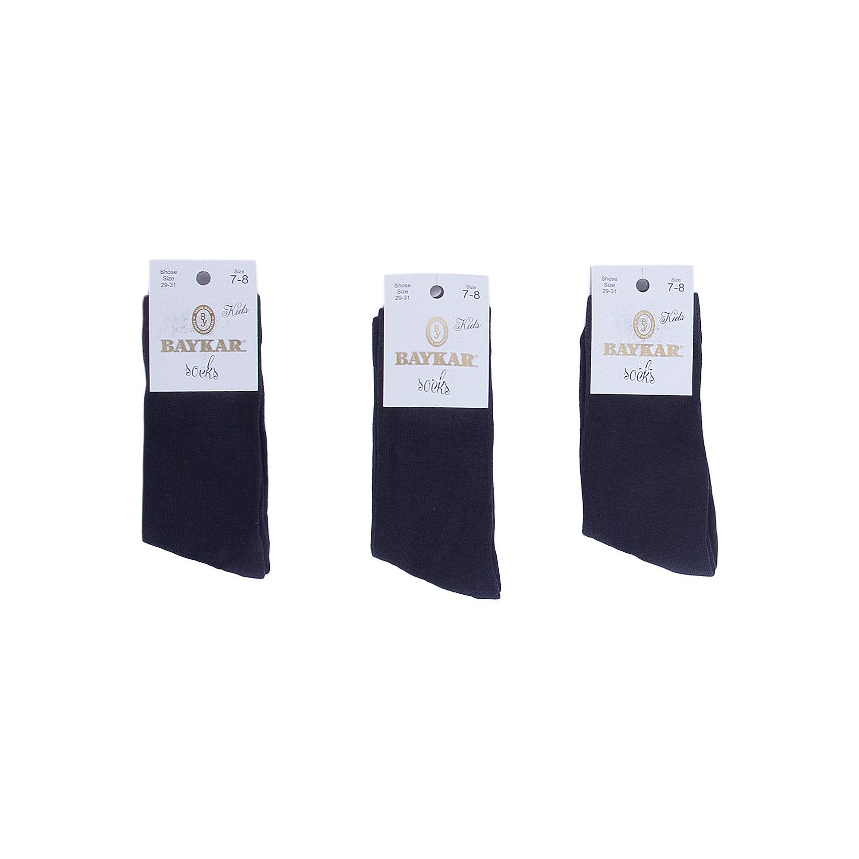 Носки ( 3 пары) BaykarНоски<br>Характеристики товара:<br><br>• цвет: серый<br>• состав ткани: 75% хлопок; 22% полиамид; 3% эластан<br>• комплектация: 3 пары<br>• сезон: круглый год<br>• страна бренда: Турция<br>• страна изготовитель: Турция<br><br>Набор серых носков от турецкого бренда Baykar создан специально для детей. Мягкие хлопковые носки дают коже дышать, хорошо впитывают влагу. <br><br>Мягкая резинка не давит на ногу. Качественные носки - залог комфорта ребенка. <br><br>Носки (3 пары) Baykar (Байкар) можно купить в нашем интернет-магазине.<br><br>Ширина мм: 87<br>Глубина мм: 10<br>Высота мм: 105<br>Вес г: 115<br>Цвет: серый<br>Возраст от месяцев: 72<br>Возраст до месяцев: 108<br>Пол: Унисекс<br>Возраст: Детский<br>Размер: 18-20,24-26,20-22,22-24<br>SKU: 6863924