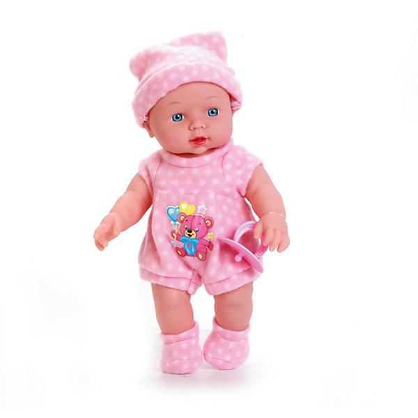 Пупс 30 см, с твердым телом, озвученный, стихи и песенка А. Барто, КарапузБренды кукол<br>Характеристики товара:<br><br>• возраст: от 3 лет;<br>• материал: пластик, текстиль;<br>• в комплекте: пупс, одежда;<br>• высота куклы: 30 см;<br>• размер упаковки: 34х10х8 см;<br>• вес упаковки: 610 гр.;<br>• страна производитель: Китай.<br><br>Пупс Карапуз 30 см озвученный — очаровательный малыш с голубыми глазками и пухлыми щечками. Пупс одет в розовый комбинезон и шапочку. При нажатии на кнопку на животику кула поет песенки на стихи Агнии Барто. У пупса подвижные ручки и ножки. Игра с куклой привьет девочке чувство ответственности и  заботы.<br><br>Пупса Карапуз 30 см озвученного можно приобрести в нашем интернет-магазине.<br><br>Ширина мм: 80<br>Глубина мм: 100<br>Высота мм: 34<br>Вес г: 610<br>Возраст от месяцев: 36<br>Возраст до месяцев: 60<br>Пол: Женский<br>Возраст: Детский<br>SKU: 6863974