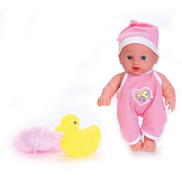 Пупс 20 см, с твердым телом, с ванночкой и аксессуарами, КарапузКуклы<br>Характеристики товара:<br><br>• возраст: от 3 лет;<br>• материал: пластик, текстиль;<br>• в комплекте: пупс, ванночка, игрушка, мочалка;<br>• высота куклы: 20 см;<br>• размер упаковки: 31х18х7 см;<br>• вес упаковки: 340 гр.;<br>• страна производитель: Китай.<br><br>Пупс Карапуз 20 см с ванночкой — очаровательный малыш с выразительными глазками и пухлыми щечками. Пупс одет в розовый комбинезон и шапочку. В наборе аксессуары для купания пупса. Игра с куклой привьет девочке чувство ответственности и  заботы.<br><br>Пупса Карапуз 20 см с ванночкой можно приобрести в нашем интернет-магазине.<br><br>Ширина мм: 91<br>Глубина мм: 98<br>Высота мм: 37<br>Вес г: 340<br>Возраст от месяцев: 36<br>Возраст до месяцев: 60<br>Пол: Женский<br>Возраст: Детский<br>SKU: 6863975