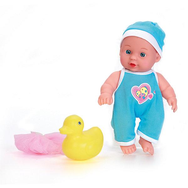 Пупс 20см с твердым телом, с ванночкой и аксессуарами, КарапузКуклы<br>Характеристики товара:<br><br>• возраст: от 3 лет;<br>• материал: пластик, текстиль;<br>• в комплекте: пупс, ванночка, игрушка, мочалка;<br>• высота куклы: 20 см;<br>• размер упаковки: 31х18х7 см;<br>• вес упаковки: 340 гр.;<br>• страна производитель: Китай.<br><br>Пупс Карапуз 20 см с ванночкой — очаровательный малыш с выразительными глазками и пухлыми щечками. Пупс одет в голубой комбинезон и шапочку. В наборе аксессуары для купания пупса. Игра с куклой привьет девочке чувство ответственности и  заботы.<br><br>Пупса Карапуз 20 см с ванночкой можно приобрести в нашем интернет-магазине.<br><br>Ширина мм: 91<br>Глубина мм: 98<br>Высота мм: 37<br>Вес г: 340<br>Возраст от месяцев: 36<br>Возраст до месяцев: 60<br>Пол: Женский<br>Возраст: Детский<br>SKU: 6863976