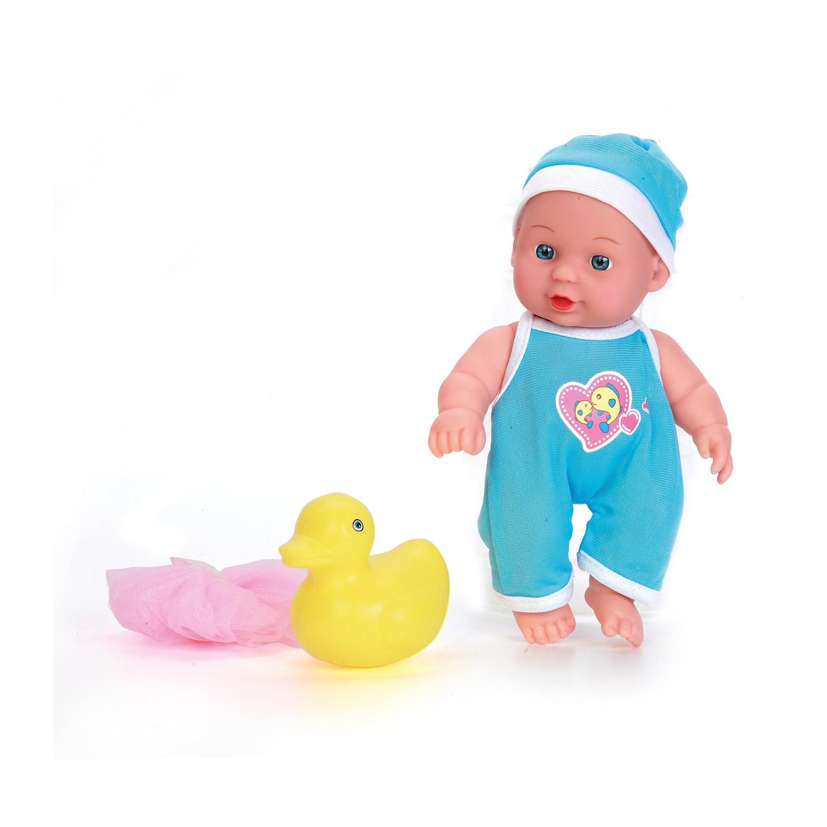 Пупс 20см с твердым телом, с ванночкой и аксессуарами, КарапузКуклы-пупсы<br>Этот милый пупс очень похож на настоящего младенца. О нем таки и хочется позаботится. У него твердое тело, подвижные ручки и ножки. Пупс одет в костюмчик и шапочку. Его можно купать. В комплекте есть аксессуары для купания: ванночка, игрушка и мочалка.<br><br>Ширина мм: 91<br>Глубина мм: 98<br>Высота мм: 37<br>Вес г: 340<br>Возраст от месяцев: 36<br>Возраст до месяцев: 60<br>Пол: Женский<br>Возраст: Детский<br>SKU: 6863976