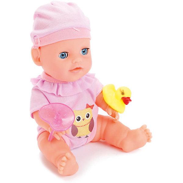 Пупс 20 см, 3 функции, в ванне, с аксессуарами, КарапузБренды кукол<br>Характеристики товара:<br><br>• возраст: от 3 лет;<br>• материал: пластик, текстиль;<br>• в комплекте: пупс, ванночка, аксессуары;<br>• высота куклы: 20 см;<br>• размер упаковки: 28х17х17 см;<br>• вес упаковки: 580 гр.;<br>• страна производитель: Китай.<br><br>Пупс Карапуз 20 см, 3 функции — очаровательный малыш с выразительными глазками и пухлыми щечками. Пупс одет в сиреневый костюмчик и шапочку. Малыша можно напоить из бутылочки, но затем не забыть посадить его на горшок, чтобы он пописал. <br><br>Так как у куклы пластиковое тельце, то ее можно купать и брать с собой в ванную. У пупса подвижные ручки и ножки. После игры пупса можно уложить спать, тогда он закроет глазки. Игра с куклой привьет девочке чувство ответственности и заботы.<br><br>Пупса Карапуз 20 см, 3 функции можно приобрести в нашем интернет-магазине.<br>Ширина мм: 75; Глубина мм: 58; Высота мм: 35; Вес г: 580; Возраст от месяцев: 36; Возраст до месяцев: 60; Пол: Женский; Возраст: Детский; SKU: 6863982;