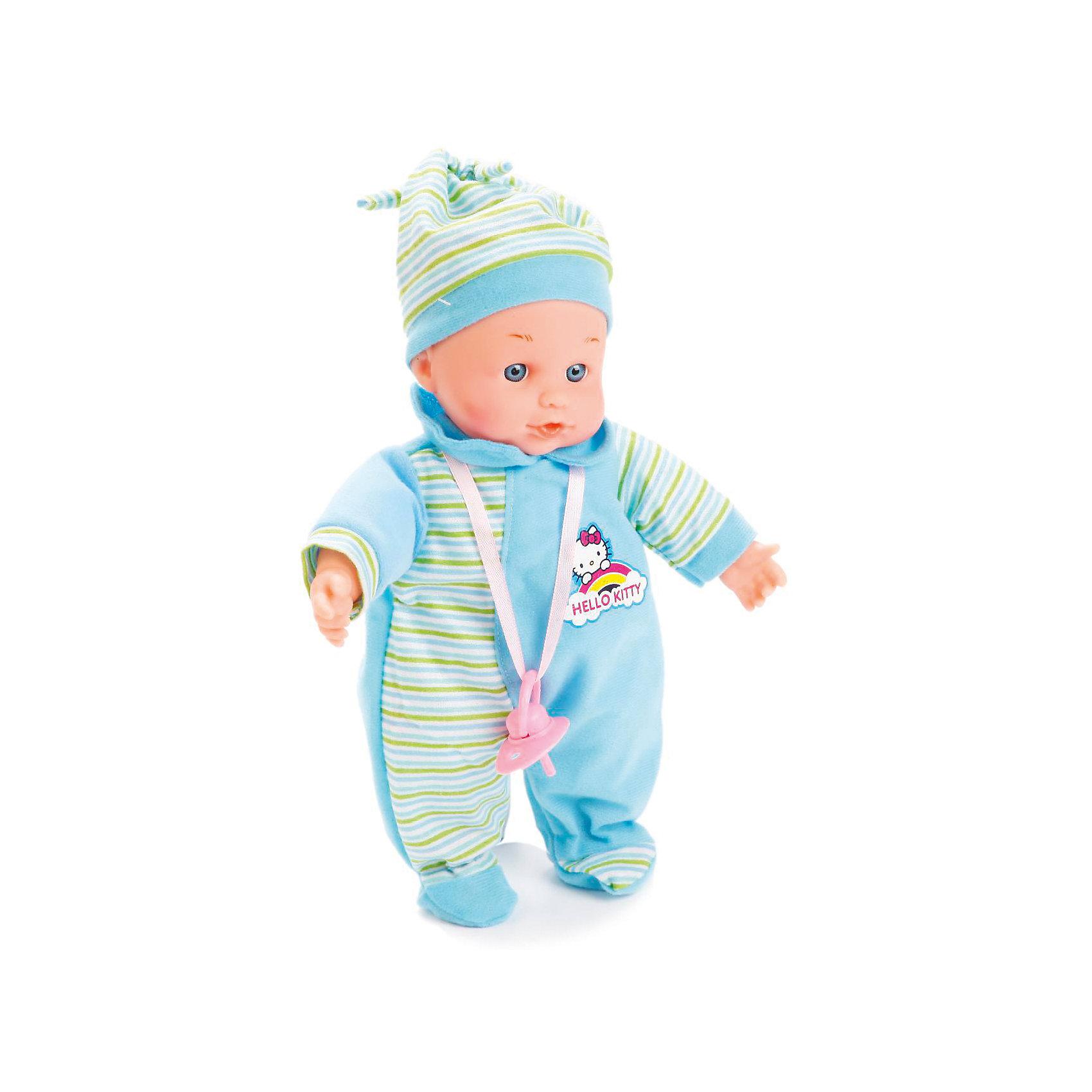 Пупс 30 см, озвученный, 30 звуков, мягкое тело, КарапузИнтерактивные куклы<br>Интерактивная кукла-пупс похожа на настоящего ребенка и работает на батарейках. Она имеет мягкое тело и русскую озвучку. Игрушка умеет смеяться и плакать, и также произносит 30 разных звуков. Кукла одета в яркий теплый комбинезон и шапочку. В наборе также имеется соска.<br><br>Ширина мм: 71<br>Глубина мм: 40<br>Высота мм: 34<br>Вес г: 480<br>Возраст от месяцев: 36<br>Возраст до месяцев: 60<br>Пол: Женский<br>Возраст: Детский<br>SKU: 6863984