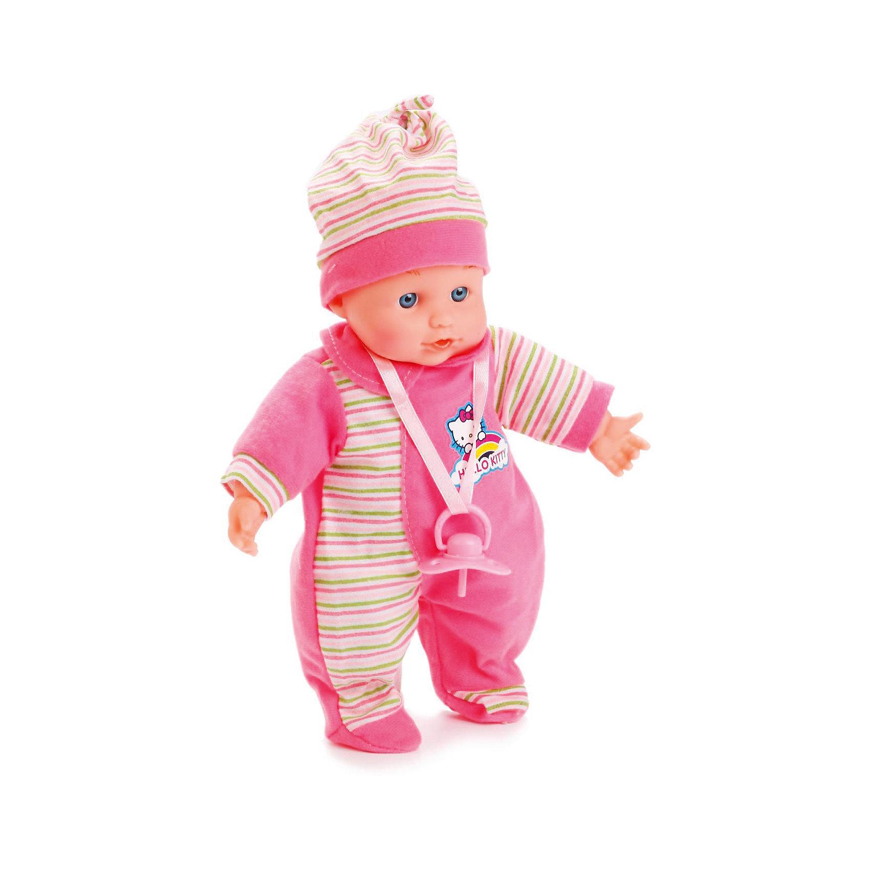 Пупс 30 см, озвученный, 30 звуков, мягкое тело, КарапузКуклы<br>Интерактивная кукла-пупс похожа на настоящего ребенка и работает на батарейках. Она имеет мягкое тело и русскую озвучку. Игрушка умеет смеяться и плакать, и также произносит 30 разных звуков. Кукла одета в яркий теплый комбинезон и шапочку. В наборе также имеется соска.<br><br>Ширина мм: 71<br>Глубина мм: 40<br>Высота мм: 34<br>Вес г: 480<br>Возраст от месяцев: 36<br>Возраст до месяцев: 60<br>Пол: Женский<br>Возраст: Детский<br>SKU: 6863985