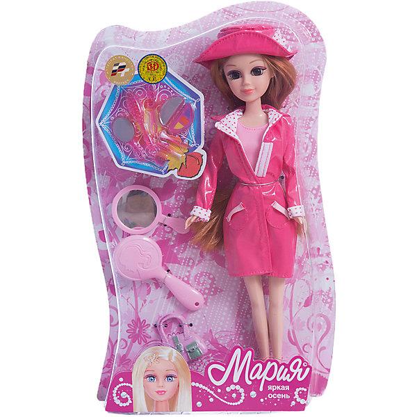 Кукла Мария 29 см Яркая осень, с аксессуарами, КарапузКуклы<br>Характеристики товара:<br><br>• возраст: от 3 лет;<br>• материал: пластик, текстиль;<br>• в комплекте: кукла, аксессуары;<br>• высота куклы: 29 см;<br>• размер упаковки: 32х14х6 см;<br>• вес упаковки: 380 гр.;<br>• страна производитель: Китай.<br><br>Кукла Мария «Яркая осень» Карапуз одета в стильный осенний наряд. На ней розовый пиджак и юбка, розовые сапожки. Дополняют образ модная шляпка и сумочка с руках. У куклы мягкие волосы, которые можно расчесывать, украшать и заплетать. Благодаря подвижным ручкам и ножкам кукла принимает различные позы.<br><br>Куклу Марию «Яркая осень» Карапуз можно приобрести в нашем интернет-магазине.<br>Ширина мм: 39; Глубина мм: 70; Высота мм: 47; Вес г: 380; Возраст от месяцев: 36; Возраст до месяцев: 60; Пол: Женский; Возраст: Детский; SKU: 6863987;