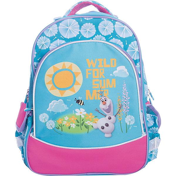 Рюкзак Disney школьный ОлафРюкзаки<br><br>Ширина мм: 380; Глубина мм: 280; Высота мм: 140; Вес г: 677; Возраст от месяцев: 72; Возраст до месяцев: 96; Пол: Женский; Возраст: Детский; SKU: 6865007;