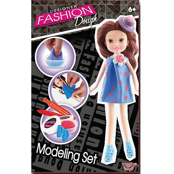 Набор для лепки с куклой Fashion Dough, Шатенка в голубом сарафанеНаборы для лепки<br>Характеристики:<br><br>• возраст: от 6 лет<br>• в наборе: кукла-модель; масса для моделирования – 2 шт.; инструменты для моделирования – 2 шт.; обувь для куклы; держатель для куклы; инструкция<br>• упаковка: картонная коробка<br>• размер упаковки: 18,6х5,8х29,4 см.<br>• вес: 330 гр.<br><br>Набор для творчества «Fashion Dough» создан специально для юных рукодельниц. При помощи пластилина, удобных инструментов для моделирования и подробной инструкции малышка сможет самостоятельно создавать красивые наряды для куколки-модели, входящей в комплект.<br><br>Каждой девочке будет очень интересен процесс создания оригинальных нарядов из легкого, мягкого пластичного пластилина. Пластилин безопасен для здоровья, гипоаллергенен и не содержит глютена. Если он засыхает, можно просто добавить воды и продолжить лепку.<br><br>Сочетание насыщенных цветов пластилина позволит создать красивые образы и проводить незабываемые модные показы вместе с очаровательной куколкой-шатенкой от торговой марки Toy Target (Той Таргет).<br><br>Занятия с набором подарят море положительных эмоций и поспособствуют развитию пространственного воображения, фантазии и художественного вкуса малышки.<br><br>Набор для творчества с пластилином Fashion Dough и куклой Шатенка в голубом сарафане можно купить в нашем интернет-магазине.<br><br>Ширина мм: 186<br>Глубина мм: 58<br>Высота мм: 294<br>Вес г: 330<br>Возраст от месяцев: 72<br>Возраст до месяцев: 2147483647<br>Пол: Женский<br>Возраст: Детский<br>SKU: 6867056
