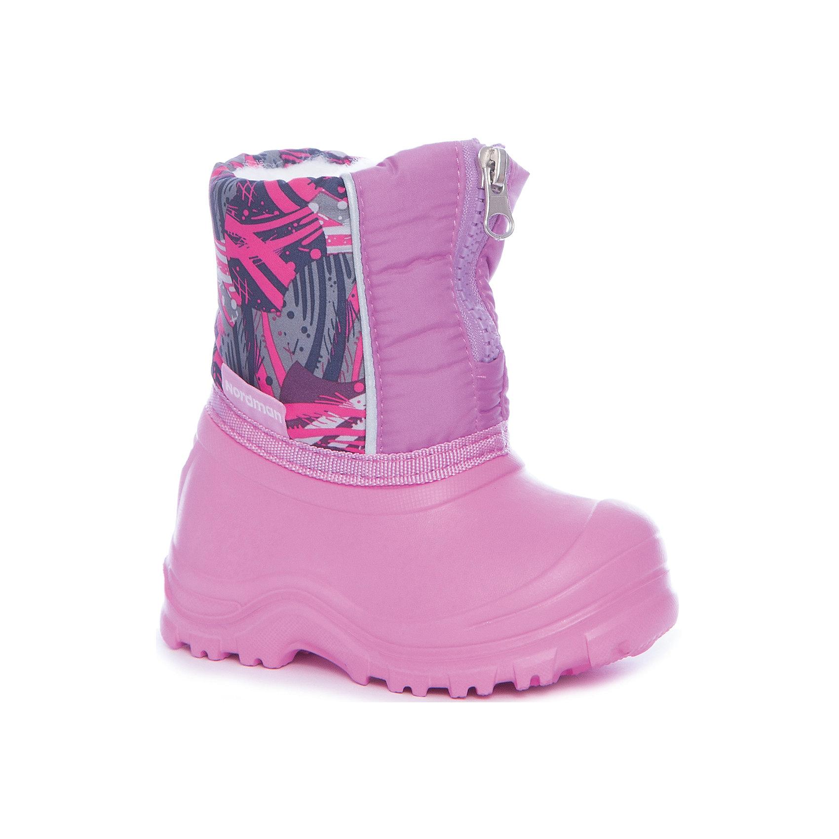 Сноубутсы для девочки NordmanСноубутсы<br>Характеристики товара:<br><br>• цвет: розовый<br>• материал верха: текстиль (dewspo)<br>• галоша: ЭВА<br>• подклад: шерстяной мех<br>• стелька: шерстяной мех<br>• подошва: ЭВА<br>• сезон: зима<br>• температурный режим: от 0 до -15<br>• застежка: молния<br>• непромокаемые<br>• подошва не скользит<br>• анатомические <br>• страна бренда: Россия<br>• страна изготовитель: Россия<br><br>Сноубутсы для девочки Nordman позволяют сохранить ноги в тепле и одновременно не дают им промокнуть. Такая обувь отлично подходит для снежной зимы или слякоти в межсезонье. <br><br>Высокое голенище из непромокаемой ткани предотвращает попадание снега в сапог. Меховая подкладка обеспечивает комфортные условия для ног благодаря способности материала впитывать влагу.<br><br>Сноубутсы для девочки Nordman (Нордман) можно купить в нашем интернет-магазине.<br><br>Ширина мм: 257<br>Глубина мм: 180<br>Высота мм: 130<br>Вес г: 420<br>Цвет: розовый<br>Возраст от месяцев: 132<br>Возраст до месяцев: 144<br>Пол: Женский<br>Возраст: Детский<br>Размер: 34/35,32/33,20/21,22/23,24/25,26/27,28/29,30/31<br>SKU: 6867163