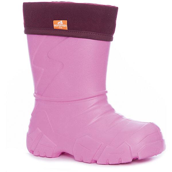 Резиновые сапоги для девочки NordmanРезиновые сапоги<br>Характеристики товара:<br><br>• цвет: розовый<br>• материал верха: ЭВА<br>• подклад: флис<br>• стелька: флис<br>• подошва: ЭВА<br>• сезон: зима, демисезон<br>• температурный режим: от 0 до -15<br>• сапожок не вынимается<br>• непромокаемые<br>• подошва не скользит<br>• страна бренда: Россия<br>• страна изготовитель: Россия<br><br>Резиновые сапоги для девочки Nordman позволяют сохранить ноги в тепле и одновременно не дают им промокнуть. Такая обувь отлично подходит для теплой зимы или слякоти в межсезонье. <br><br>Высокое голенище предотвращает попадание влаги или грязи в сапог. Флисовая мягкая подкладка обеспечивает ногам комфортные условия.<br><br>Резиновые сапоги для девочки Nordman (Нордман) можно купить в нашем интернет-магазине.<br><br>Ширина мм: 237<br>Глубина мм: 180<br>Высота мм: 152<br>Вес г: 438<br>Цвет: розовый<br>Возраст от месяцев: 18<br>Возраст до месяцев: 21<br>Пол: Женский<br>Возраст: Детский<br>Размер: 22/23,34/35,32/33,30/31,28/29,26/27,24/25<br>SKU: 6867197