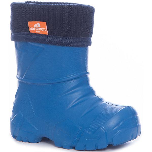 Резиновые сапоги для мальчика NordmanРезиновые сапоги<br>Характеристики товара:<br><br>• цвет: синий<br>• материал верха: ЭВА<br>• подклад: флис<br>• стелька: флис<br>• подошва: ЭВА<br>• сезон: зима, демисезон<br>• температурный режим: от 0 до -15<br>• сапожок не вынимается<br>• непромокаемые<br>• подошва не скользит<br>• страна бренда: Россия<br>• страна изготовитель: Россия<br><br>Резиновые сапоги для мальчика Nordman позволяют сохранить ноги в тепле и одновременно не дают им промокнуть. Такая обувь отлично подходит для теплой зимы или слякоти в межсезонье. <br><br>Высокое голенище предотвращает попадание влаги или грязи в сапог. Флисовая мягкая подкладка обеспечивает ногам комфортные условия.<br><br>Резиновые сапоги для мальчика Nordman (Нордман) можно купить в нашем интернет-магазине.<br>Ширина мм: 237; Глубина мм: 180; Высота мм: 152; Вес г: 438; Цвет: синий; Возраст от месяцев: 18; Возраст до месяцев: 21; Пол: Мужской; Возраст: Детский; Размер: 22/23,34/35,32/33,30/31,28/29,26/27,24/25; SKU: 6867205;