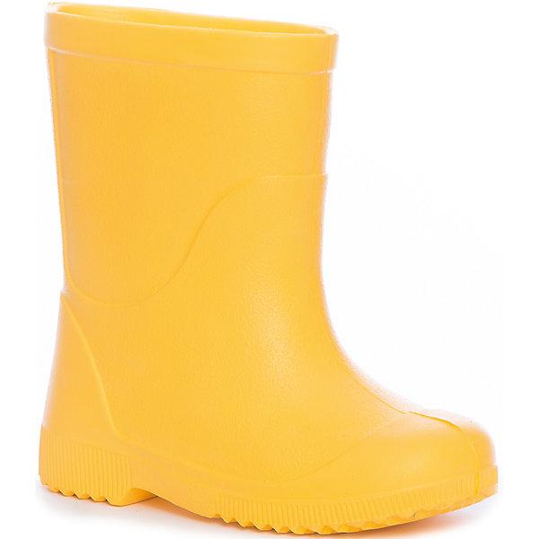 Резиновые сапоги NordmanРезиновые сапоги<br>Характеристики товара:<br><br>• цвет: желтый<br>• материал верха: ЭВА<br>• подклад: ЭВА<br>• стелька: ЭВА<br>• подошва: ЭВА<br>• сезон: демисезон<br>• температурный режим: от +10<br>• непромокаемые<br>• подошва не скользит<br>• анатомические <br>• страна бренда: Россия<br>• страна изготовитель: Россия<br><br>Резиновые сапоги желтого цвета. Сапоги выполнены их ЭВА материала, что делает их очень легкими. Резиновые на рифленой подошве, без подкладки. <br><br>Резиновые сапоги Nordman (Нордман) можно купить в нашем интернет-магазине.<br><br>Ширина мм: 257<br>Глубина мм: 180<br>Высота мм: 130<br>Вес г: 420<br>Цвет: желтый<br>Возраст от месяцев: 132<br>Возраст до месяцев: 144<br>Пол: Унисекс<br>Возраст: Детский<br>Размер: 34/35,22/23,32/33,30/31,28/29,26/27,24/25<br>SKU: 6867261
