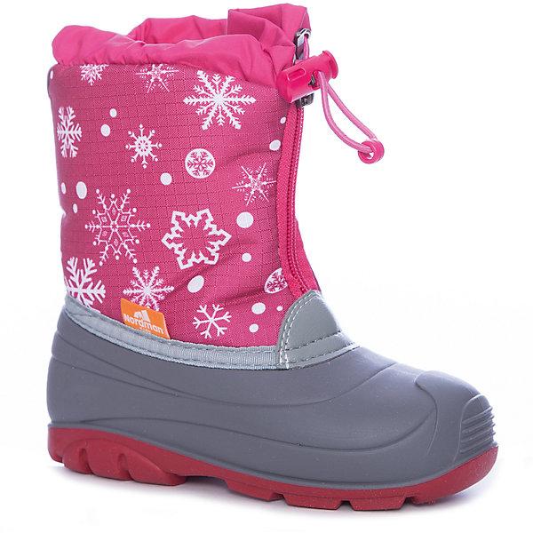 Сноубутсы для девочки NordmanСноубутсы<br>Характеристики товара:<br><br>• цвет: розовый<br>• материал верха: текстиль (oxford)<br>• подклад: шерстяной мех<br>• стелька: шерстяной мех<br>• подошва: ТЭП<br>• сезон: зима<br>• температурный режим: от +7 до -10<br>• застежка: молния, утяжка<br>• непромокаемые<br>• подошва не скользит<br>• анатомические <br>• страна бренда: Россия<br>• страна изготовитель: Россия<br><br>Сноубутсы для девочки Nordman позволяют сохранить ноги в тепле и одновременно не дают им промокнуть. Такая обувь отлично подходит для снежной зимы или слякоти в межсезонье. <br><br>Высокое голенище из непромокаемой ткани с утяжкой предотвращает попадание снега в сапог. Меховая подкладка обеспечивает комфортные условия для ног благодаря способности материала впитывать влагу.<br><br>Сноубутсы для девочки Nordman (Нордман) можно купить в нашем интернет-магазине.<br><br>Ширина мм: 257<br>Глубина мм: 180<br>Высота мм: 130<br>Вес г: 420<br>Цвет: розовый<br>Возраст от месяцев: 48<br>Возраст до месяцев: 60<br>Пол: Женский<br>Возраст: Детский<br>Размер: 28,27,26,25,24,23,29<br>SKU: 6867269