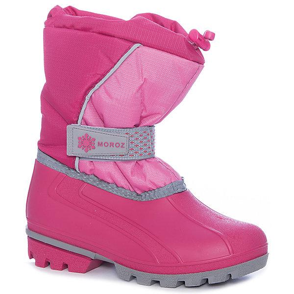 Сноубутсы для девочки NordmanСноубутсы<br>Характеристики товара:<br><br>• цвет: розовый<br>• материал верха: текстиль (rip stop)<br>• подклад: шерстяной мех<br>• стелька: шерстяной мех<br>• подошва: ТЭП<br>• сезон: зима<br>• температурный режим: от +7 до -10<br>• застежка: липучка<br>• сапожок съемный<br>• непромокаемые<br>• подошва не скользит<br>• анатомические <br>• страна бренда: Россия<br>• страна изготовитель: Россия<br><br>Сноубутсы для девочки Nordman позволяют сохранить ноги в тепле и одновременно не дают им промокнуть. Такая обувь отлично подходит для снежной зимы или слякоти в межсезонье. <br><br>Высокое голенище из непромокаемой ткани предотвращает попадание снега в сапог. Меховая подкладка обеспечивает комфортные условия для ног благодаря способности материала впитывать влагу.<br><br>Сноубутсы для девочки Nordman (Нордман) можно купить в нашем интернет-магазине.<br>Ширина мм: 257; Глубина мм: 180; Высота мм: 130; Вес г: 420; Цвет: розовый; Возраст от месяцев: 72; Возраст до месяцев: 84; Пол: Женский; Возраст: Детский; Размер: 30,35,34,33,32,31; SKU: 6867290;