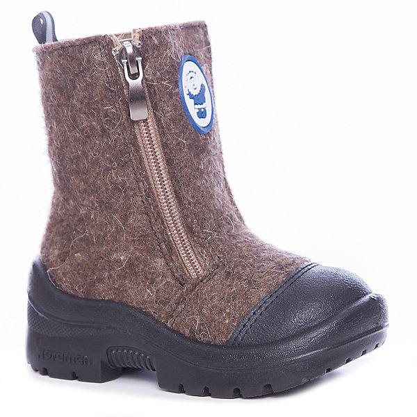 Валенки  NordmanВаленки<br>Характеристики товара:<br><br>• цвет: коричневый<br>• материал верха: текстиль (войлок)<br>• подклад: шерстяной мех<br>• стелька: шерстяной мех<br>• подошва: полиуретан<br>• сезон: зима<br>• температурный режим: от 0 до -30<br>• застежка: молния<br>• защита мыса<br>• подошва не скользит<br>• анатомические <br>• страна бренда: Россия<br>• страна изготовитель: Россия<br><br>Валенки Nordman позволяют сохранить ноги в тепле, а литая высокая полиуретановая подошва одновременно не дать им промокнуть и обеспечивает дополнительную защиту от холода. Такая обувь отлично подходит для морозной зимы. <br><br>Антискользящий протектор позволяет детям увереннее держаться на ногах даже в гололед. Меховая подкладка обеспечивает комфортные условия для ног благодаря способности материала впитывать влагу. Стелька из меха легко вынимается и быстро сохнет.<br><br>Валенки Nordman (Нордман) можно купить в нашем интернет-магазине.<br>Ширина мм: 257; Глубина мм: 180; Высота мм: 130; Вес г: 420; Цвет: коричневый; Возраст от месяцев: 18; Возраст до месяцев: 21; Пол: Унисекс; Возраст: Детский; Размер: 23,22,26,25,24; SKU: 6867400;