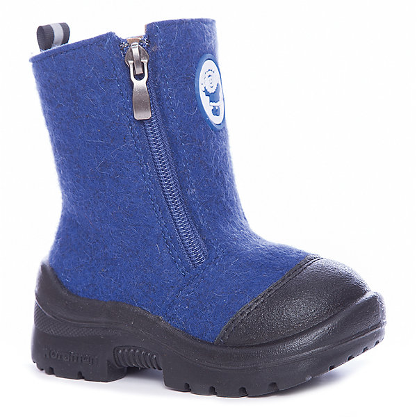 Валенки для мальчика NordmanВаленки<br>Характеристики товара:<br><br>• цвет: синий<br>• материал верха: текстиль (войлок)<br>• подклад: шерстяной мех<br>• стелька: шерстяной мех<br>• подошва: полиуретан<br>• сезон: зима<br>• температурный режим: от 0 до -30<br>• застежка: молния<br>• защита мыса<br>• подошва не скользит<br>• анатомические <br>• страна бренда: Россия<br>• страна изготовитель: Россия<br><br>Валенки для мальчика Nordman позволяют сохранить ноги в тепле, а литая высокая полиуретановая подошва одновременно не дать им промокнуть и обеспечивает дополнительную защиту от холода. Такая обувь отлично подходит для морозной зимы. <br><br>Антискользящий протектор позволяет детям увереннее держаться на ногах даже в гололед. Меховая подкладка обеспечивает комфортные условия для ног благодаря способности материала впитывать влагу. Стелька из меха легко вынимается и быстро сохнет.<br><br>Валенки для мальчика Nordman (Нордман) можно купить в нашем интернет-магазине.<br><br>Ширина мм: 257<br>Глубина мм: 180<br>Высота мм: 130<br>Вес г: 420<br>Цвет: синий<br>Возраст от месяцев: 84<br>Возраст до месяцев: 96<br>Пол: Мужской<br>Возраст: Детский<br>Размер: 31,22,30,29,28,27,26,25,24,23<br>SKU: 6867406