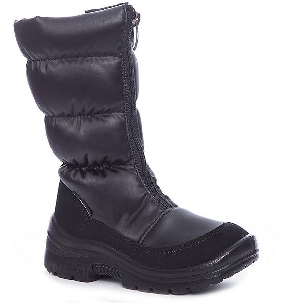 Сапоги для девочки NordmanДутики<br>Характеристики товара:<br><br>• цвет: черный<br>• материал верха: текстиль <br>• подклад: шерстяной мех<br>• стелька: шерстяной мех<br>• подошва: ЭВА<br>• сезон: зима<br>• температурный режим: от 0 до -20<br>• застежка: молния<br>• подошва не скользит<br>• анатомические <br>• страна бренда: Россия<br>• страна изготовитель: Россия<br><br>Сапоги для девочки Nordman позволяют сохранить ноги в тепле и одновременно не дают им промокнуть. Такая обувь отлично подходит для снежной зимы или слякоти в межсезонье. <br><br>Высокое голенище предотвращает попадание снега в сапог. Меховая подкладка обеспечивает комфортные условия для ног благодаря способности материала впитывать влагу.<br><br>Сапоги для девочки Nordman (Нордман) можно купить в нашем интернет-магазине.<br>Ширина мм: 257; Глубина мм: 180; Высота мм: 130; Вес г: 420; Цвет: черный; Возраст от месяцев: 36; Возраст до месяцев: 48; Пол: Женский; Возраст: Детский; Размер: 27,35,28,31,32,33,34,29,30; SKU: 6867451;