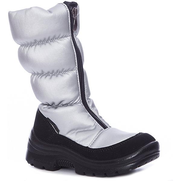 Сапоги для девочки NordmanДутики<br>Характеристики товара:<br><br>• цвет: серый<br>• материал верха: текстиль <br>• подклад: шерстяной мех<br>• стелька: шерстяной мех<br>• подошва: ЭВА<br>• сезон: зима<br>• температурный режим: от 0 до -20<br>• застежка: молния<br>• подошва не скользит<br>• анатомические <br>• страна бренда: Россия<br>• страна изготовитель: Россия<br><br>Сапоги для девочки Nordman позволяют сохранить ноги в тепле и одновременно не дают им промокнуть. Такая обувь отлично подходит для снежной зимы или слякоти в межсезонье. <br><br>Высокое голенище предотвращает попадание снега в сапог. Меховая подкладка обеспечивает комфортные условия для ног благодаря способности материала впитывать влагу.<br><br>Сапоги для девочки Nordman (Нордман) можно купить в нашем интернет-магазине.<br>Ширина мм: 257; Глубина мм: 180; Высота мм: 130; Вес г: 420; Цвет: серебряный; Возраст от месяцев: 84; Возраст до месяцев: 96; Пол: Женский; Возраст: Детский; Размер: 31,28,30,27,35,29,32,33,34,36,37; SKU: 6867461;