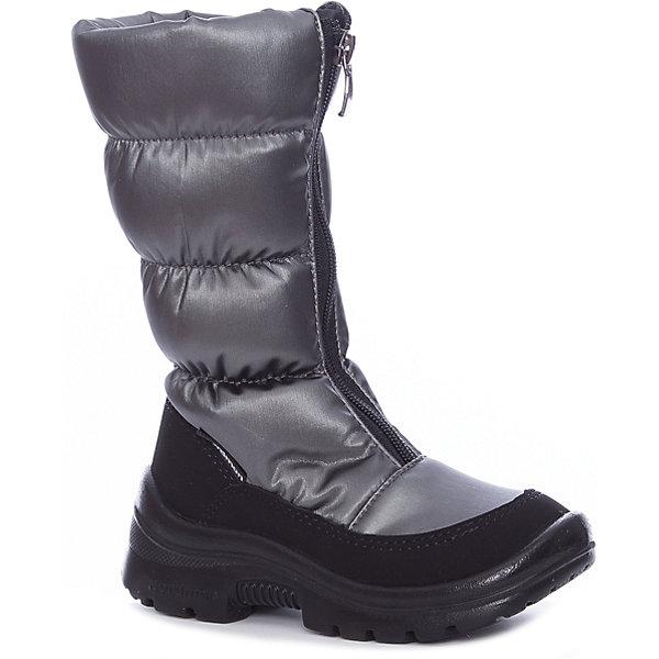 Сапоги для девочки NordmanДутики<br>Характеристики товара:<br><br>• цвет: серый<br>• материал верха: текстиль <br>• подклад: шерстяной мех<br>• стелька: шерстяной мех<br>• подошва: ЭВА<br>• сезон: зима<br>• температурный режим: от 0 до -20<br>• застежка: молния<br>• подошва не скользит<br>• анатомические <br>• страна бренда: Россия<br>• страна изготовитель: Россия<br><br>Сапоги для девочки Nordman позволяют сохранить ноги в тепле и одновременно не дают им промокнуть. Такая обувь отлично подходит для снежной зимы или слякоти в межсезонье. <br><br>Высокое голенище предотвращает попадание снега в сапог. Меховая подкладка обеспечивает комфортные условия для ног благодаря способности материала впитывать влагу.<br><br>Сапоги для девочки Nordman (Нордман) можно купить в нашем интернет-магазине.<br>Ширина мм: 257; Глубина мм: 180; Высота мм: 130; Вес г: 420; Цвет: серебряный; Возраст от месяцев: 36; Возраст до месяцев: 48; Пол: Женский; Возраст: Детский; Размер: 27,37,36,35,34,33,32,31,30,29,28; SKU: 6867479;
