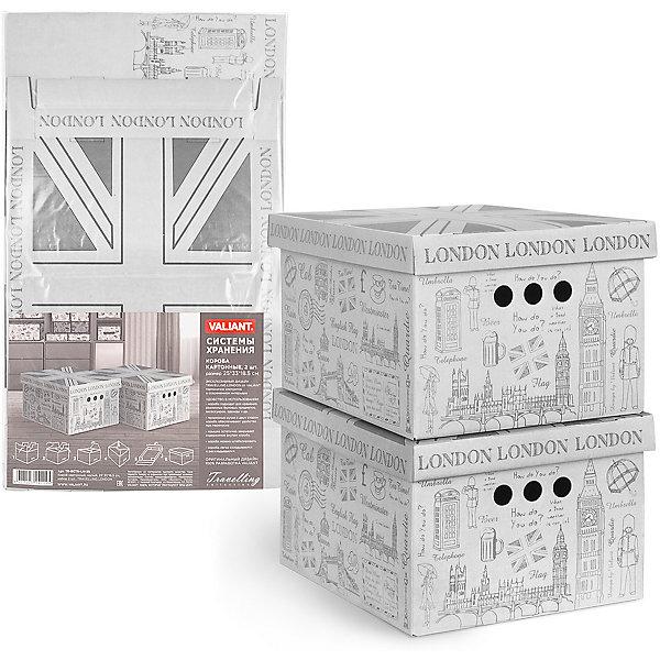 Короб для хранения TRAVELLING LONDON , 25*33*18.5 см, 2 шт., VALIANTКорзины для белья<br>Характеристики товара:<br><br>• возраст: от 3 лет;<br>• вес упаковки: 400 гр.;<br>• размер упаковки: 61х36х2 см.;<br>• количество коробов: 2шт.;<br>• размер короба: 25х33х18,5 см.;<br>• состав: микрогофрокартон 3х-слойный, 2мм;<br>• страна бренда:Великобритания;<br>• страна-производитель: Китай.<br><br>Короб для хранения «TRAVELLING LONDON» не только очень легкий и прочный короб для хранения бытовых мелочей, аксессуаров для рукоделия и других мелких предметов, но и к тому же он может выступать и в качестве красивого элемента декора интерьера вашей комнаты.<br><br>В комлект входят 2 короба оснащеннных крышкой и тремя отверстиями, которые позволяют удобно его выдвигать, поднимать и переносить. Короба являются самосборными, на упаковке имеется побробная инструкция по сборке.<br><br>Изделие выполненно из высокачественного материала безвредного для здоровья.<br><br>Короб для хранения «TRAVELLING LONDON» , 25х33х18,5 см., VALIANT (Валиант)  можно купить в нашем интернет-магазине.<br><br>Ширина мм: 610<br>Глубина мм: 20<br>Высота мм: 360<br>Вес г: 400<br>Возраст от месяцев: 36<br>Возраст до месяцев: 216<br>Пол: Унисекс<br>Возраст: Детский<br>SKU: 6868582
