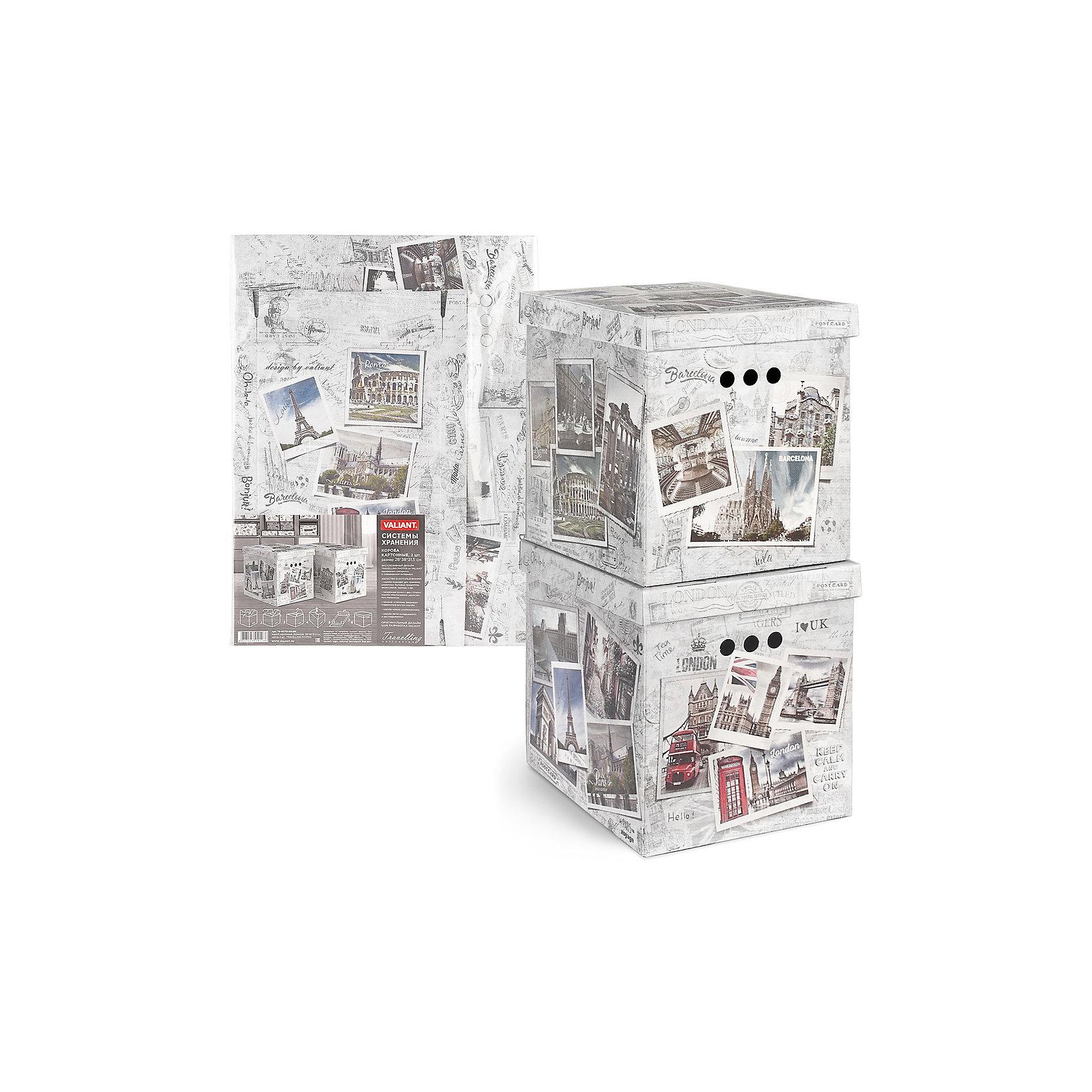 Короб для хранения TRAVELLING PHOTOS, 28*38*31.5 см, 2 шт., VALIANTВанная комната<br>Короба подходят для хранения различных бытовых предметов, аксессуаров, одежды и пр.Прорезные ручки с двух сторон короба обеспечивают удобство при переноске. Специальный внутренний вкладыш эстетично скрывает дно коробки.<br><br>Ширина мм: 690<br>Глубина мм: 20<br>Высота мм: 510<br>Вес г: 600<br>Возраст от месяцев: 36<br>Возраст до месяцев: 216<br>Пол: Унисекс<br>Возраст: Детский<br>SKU: 6868583