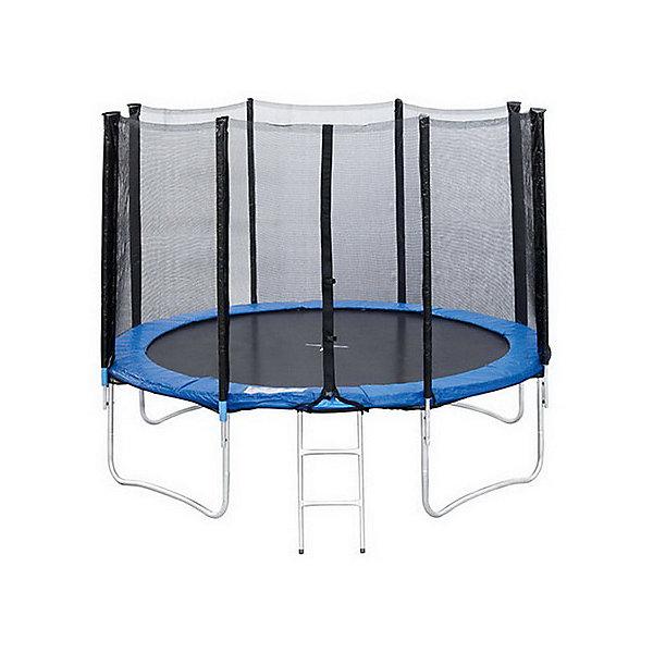 Батут с защитной сеткой и лестницей, Sport ElitБатуты<br>Характеристики товара:<br><br>• возраст: от 5 лет;<br>• максимальная нагрузка: 150 кг;<br>• материал: сталь, полипропилен;<br>• материал сетки: полиэстер;<br>• диаметр: 3,66 метра;<br>• высота батута: 80 см;<br>• высота защитной сетки: 177 см;<br>• количество пружин: 72;<br>• длина пружин: 14,2 см;<br>• размер упаковки: 150х31х50 см;<br>• вес упаковки: 50,5 кг;<br>• страна производитель: Китай.<br><br>Батут с защитной сеткой и лестницей Sport Elit для детских прыжков подойдет для дачного участка. Прыжки на батуте способствуют физическому развитию, укреплению мышц, развивают координацию движений и тренируют вестибулярный аппарат.<br><br>Зона для прыжков выполнена из прочного материала — полипропилена. Безопасность во время прыжков гарантирует защитная сетка, надежно закрепленная к стойкам. Батут оснащен лестницей для удобного поднятия на батут. <br><br>Батут с защитной сеткой и лестницей Sport Elit можно приобрести в нашем интернет-магазине.<br><br>Ширина мм: 1500<br>Глубина мм: 310<br>Высота мм: 500<br>Вес г: 50500<br>Возраст от месяцев: 72<br>Возраст до месяцев: 2147483647<br>Пол: Унисекс<br>Возраст: Детский<br>SKU: 6868829