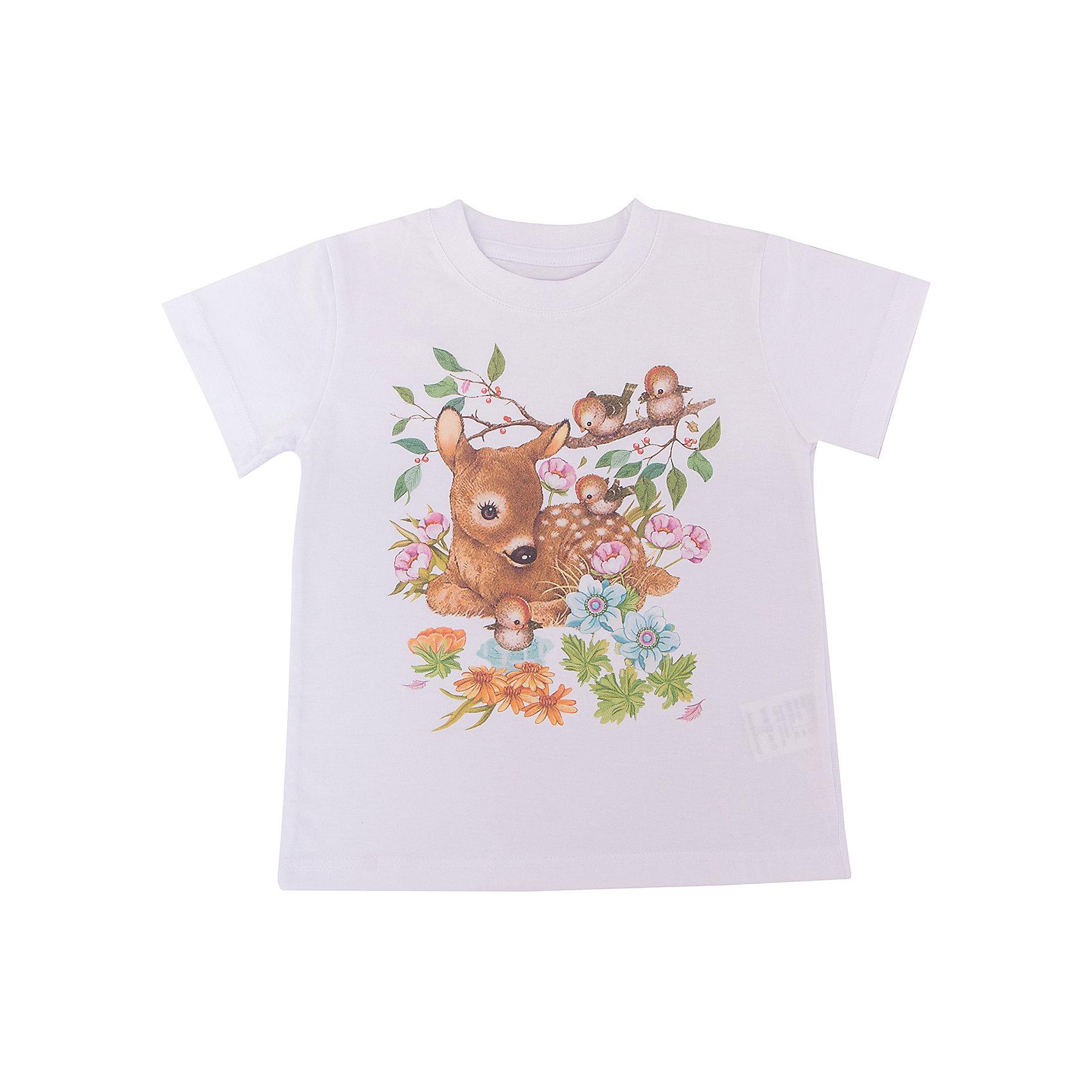 Футболка для девочки WOWФутболки, поло и топы<br>Футболка для девочки WOW<br>Незаменимой вещью в  гардеробе послужит футболка с коротким рукавом. Стильная и в тоже время комфортная модель, с яркой оригинальной печатью, будет превосходно смотреться на ребенке.<br>Состав:<br>кулирная гладь 100% хлопок<br><br>Ширина мм: 199<br>Глубина мм: 10<br>Высота мм: 161<br>Вес г: 151<br>Цвет: белый<br>Возраст от месяцев: 72<br>Возраст до месяцев: 84<br>Пол: Женский<br>Возраст: Детский<br>Размер: 122,98,104,110,116<br>SKU: 6871533