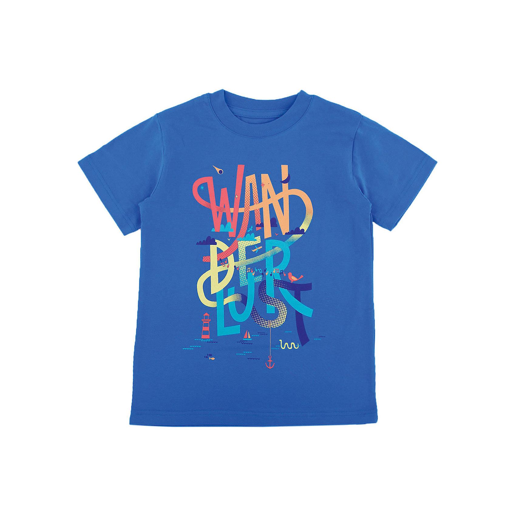 Футболка для мальчика WOWФутболки, поло и топы<br>Футболка для мальчика WOW<br>Незаменимой вещью в  гардеробе послужит футболка с коротким рукавом. Стильная и в тоже время комфортная модель, с яркой оригинальной печатью, будет превосходно смотреться на ребенке.<br>Состав:<br>кулирная гладь 100% хлопок<br><br>Ширина мм: 199<br>Глубина мм: 10<br>Высота мм: 161<br>Вес г: 151<br>Цвет: синий<br>Возраст от месяцев: 72<br>Возраст до месяцев: 84<br>Пол: Мужской<br>Возраст: Детский<br>Размер: 122,98,104,110,116<br>SKU: 6871539