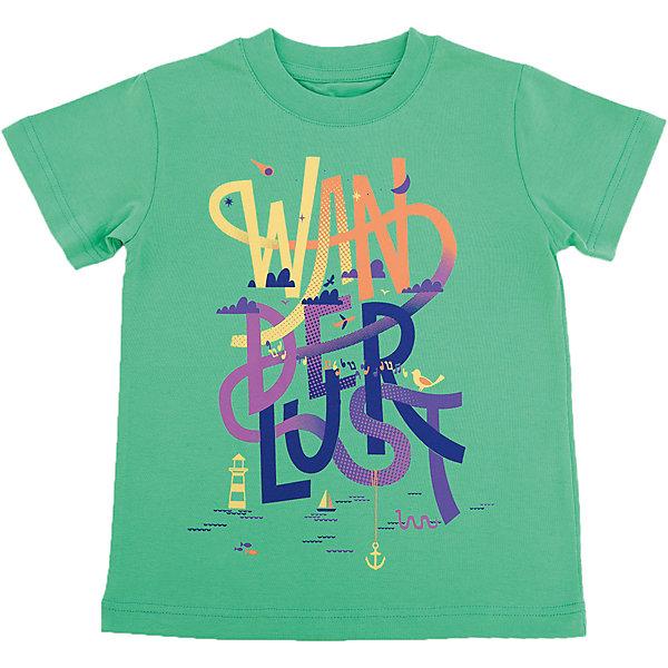 Футболка для мальчика WOWФутболки, поло и топы<br>Футболка для мальчика WOW<br>Незаменимой вещью в  гардеробе послужит футболка с коротким рукавом. Стильная и в тоже время комфортная модель, с яркой оригинальной печатью, будет превосходно смотреться на ребенке.<br>Состав:<br>кулирная гладь 100% хлопок<br>Ширина мм: 199; Глубина мм: 10; Высота мм: 161; Вес г: 151; Цвет: зеленый; Возраст от месяцев: 24; Возраст до месяцев: 36; Пол: Мужской; Возраст: Детский; Размер: 98,122,116,110,104; SKU: 6871545;