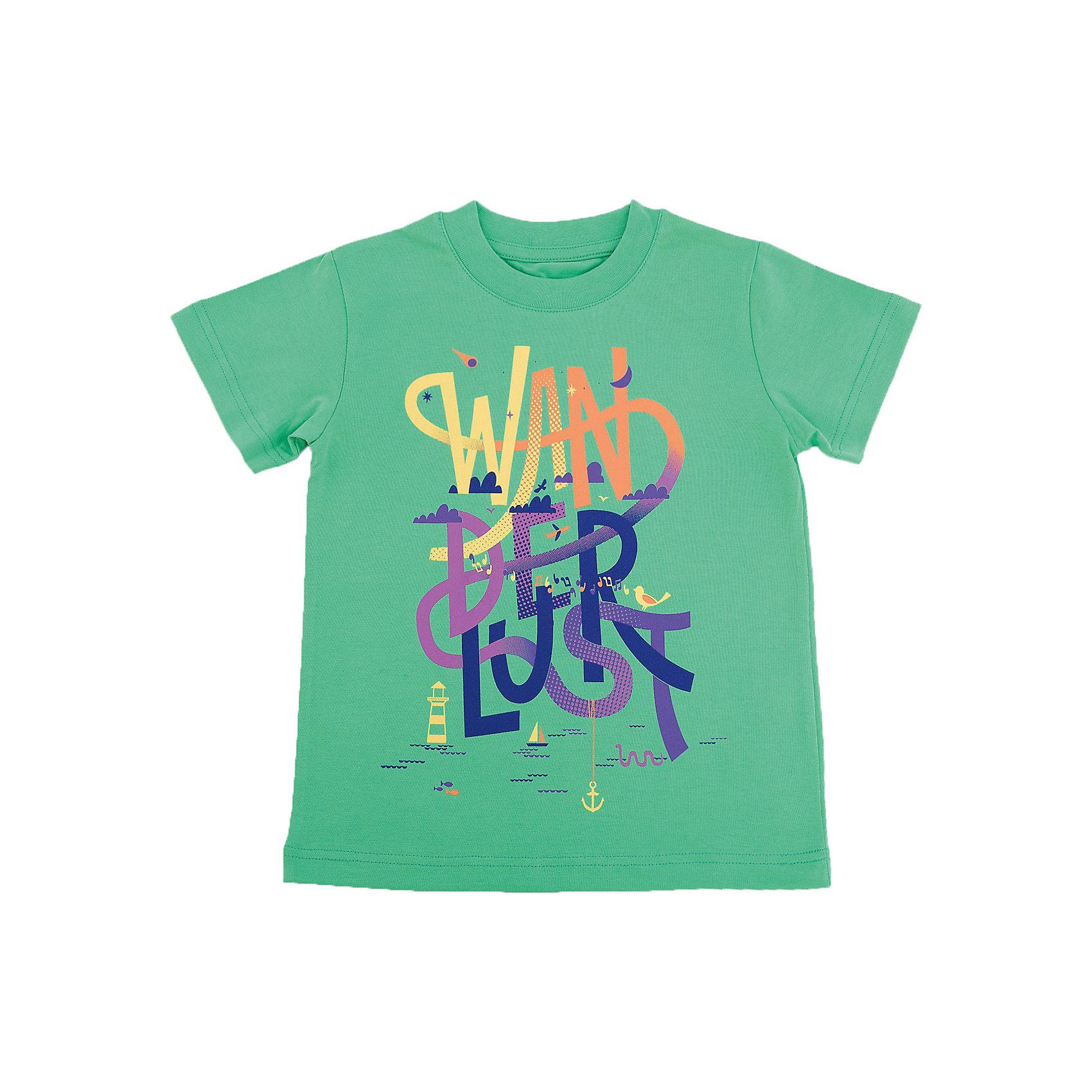 Футболка для мальчика WOWФутболки, поло и топы<br>Футболка для мальчика WOW<br>Незаменимой вещью в  гардеробе послужит футболка с коротким рукавом. Стильная и в тоже время комфортная модель, с яркой оригинальной печатью, будет превосходно смотреться на ребенке.<br>Состав:<br>кулирная гладь 100% хлопок<br><br>Ширина мм: 199<br>Глубина мм: 10<br>Высота мм: 161<br>Вес г: 151<br>Цвет: зеленый<br>Возраст от месяцев: 72<br>Возраст до месяцев: 84<br>Пол: Мужской<br>Возраст: Детский<br>Размер: 122,98,104,110,116<br>SKU: 6871545