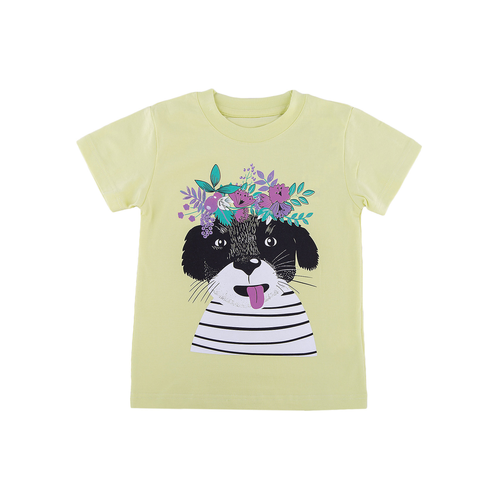 Футболка для девочки WOWФутболки, поло и топы<br>Футболка для девочки WOW<br>Незаменимой вещью в  гардеробе послужит футболка с коротким рукавом. Стильная и в тоже время комфортная модель, с яркой оригинальной печатью, будет превосходно смотреться на ребенке.<br>Состав:<br>кулирная гладь 100% хлопок<br><br>Ширина мм: 199<br>Глубина мм: 10<br>Высота мм: 161<br>Вес г: 151<br>Цвет: зеленый<br>Возраст от месяцев: 72<br>Возраст до месяцев: 84<br>Пол: Женский<br>Возраст: Детский<br>Размер: 122,98,104,110,116<br>SKU: 6871557