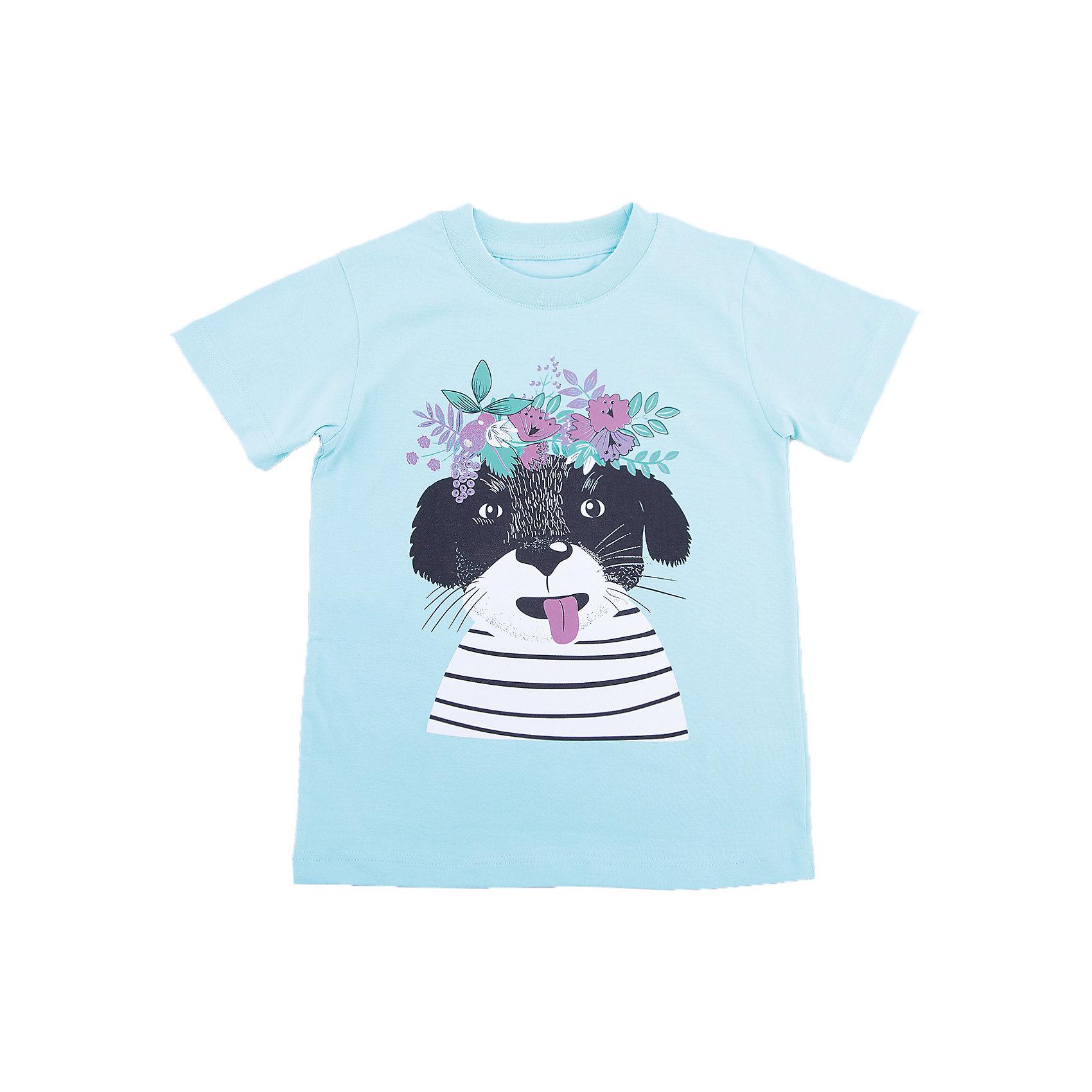 Футболка для девочки WOWФутболки, поло и топы<br>Футболка для девочки WOW<br>Незаменимой вещью в  гардеробе послужит футболка с коротким рукавом. Стильная и в тоже время комфортная модель, с яркой оригинальной печатью, будет превосходно смотреться на ребенке.<br>Состав:<br>кулирная гладь 100% хлопок<br><br>Ширина мм: 199<br>Глубина мм: 10<br>Высота мм: 161<br>Вес г: 151<br>Цвет: голубой<br>Возраст от месяцев: 72<br>Возраст до месяцев: 84<br>Пол: Женский<br>Возраст: Детский<br>Размер: 122,98,116,104,110<br>SKU: 6871563