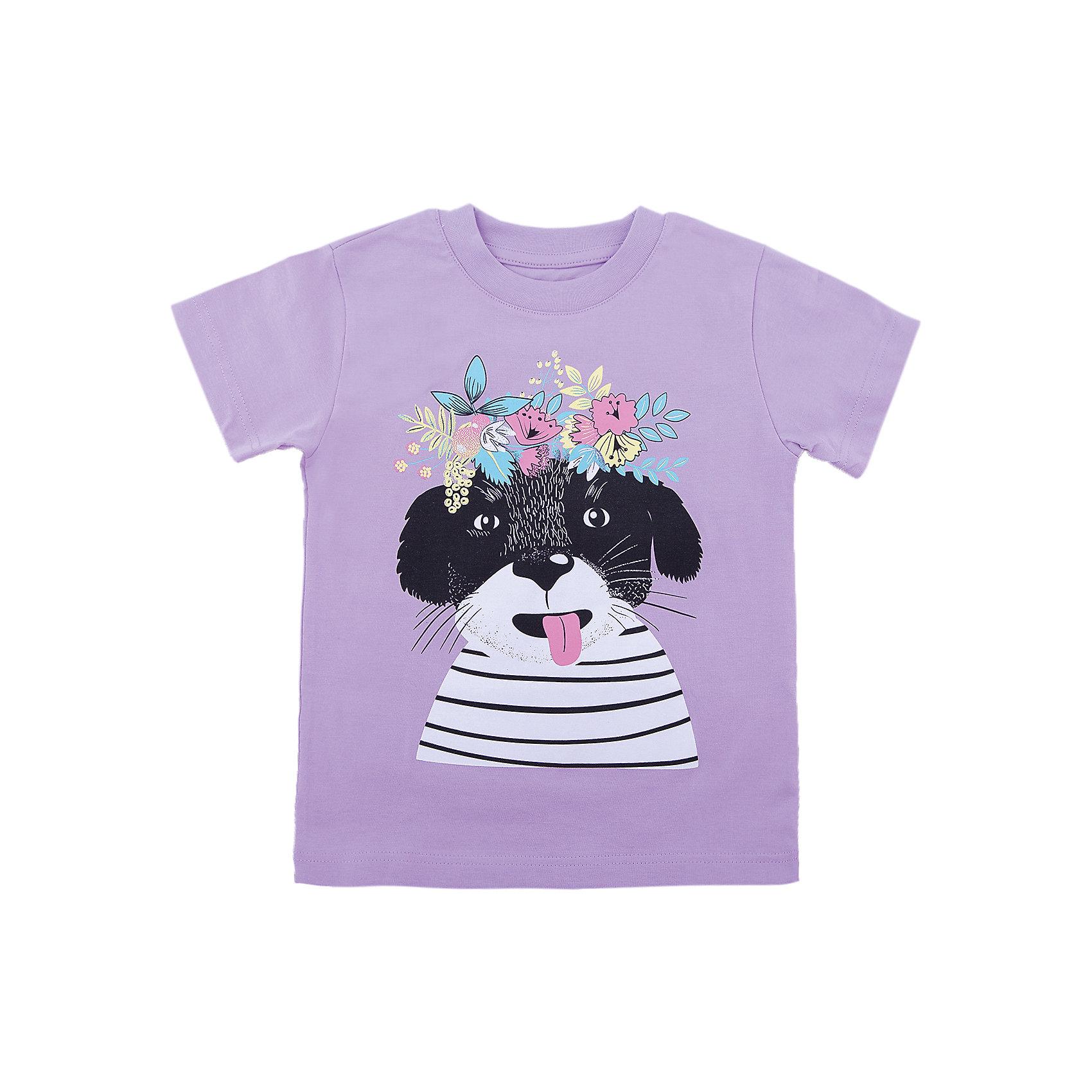 Футболка для девочки WOWФутболки, поло и топы<br>Футболка для девочки WOW<br>Незаменимой вещью в  гардеробе послужит футболка с коротким рукавом. Стильная и в тоже время комфортная модель, с яркой оригинальной печатью, будет превосходно смотреться на ребенке.<br>Состав:<br>кулирная гладь 100% хлопок<br><br>Ширина мм: 199<br>Глубина мм: 10<br>Высота мм: 161<br>Вес г: 151<br>Цвет: лиловый<br>Возраст от месяцев: 72<br>Возраст до месяцев: 84<br>Пол: Женский<br>Возраст: Детский<br>Размер: 122,98,104,110,116<br>SKU: 6871569
