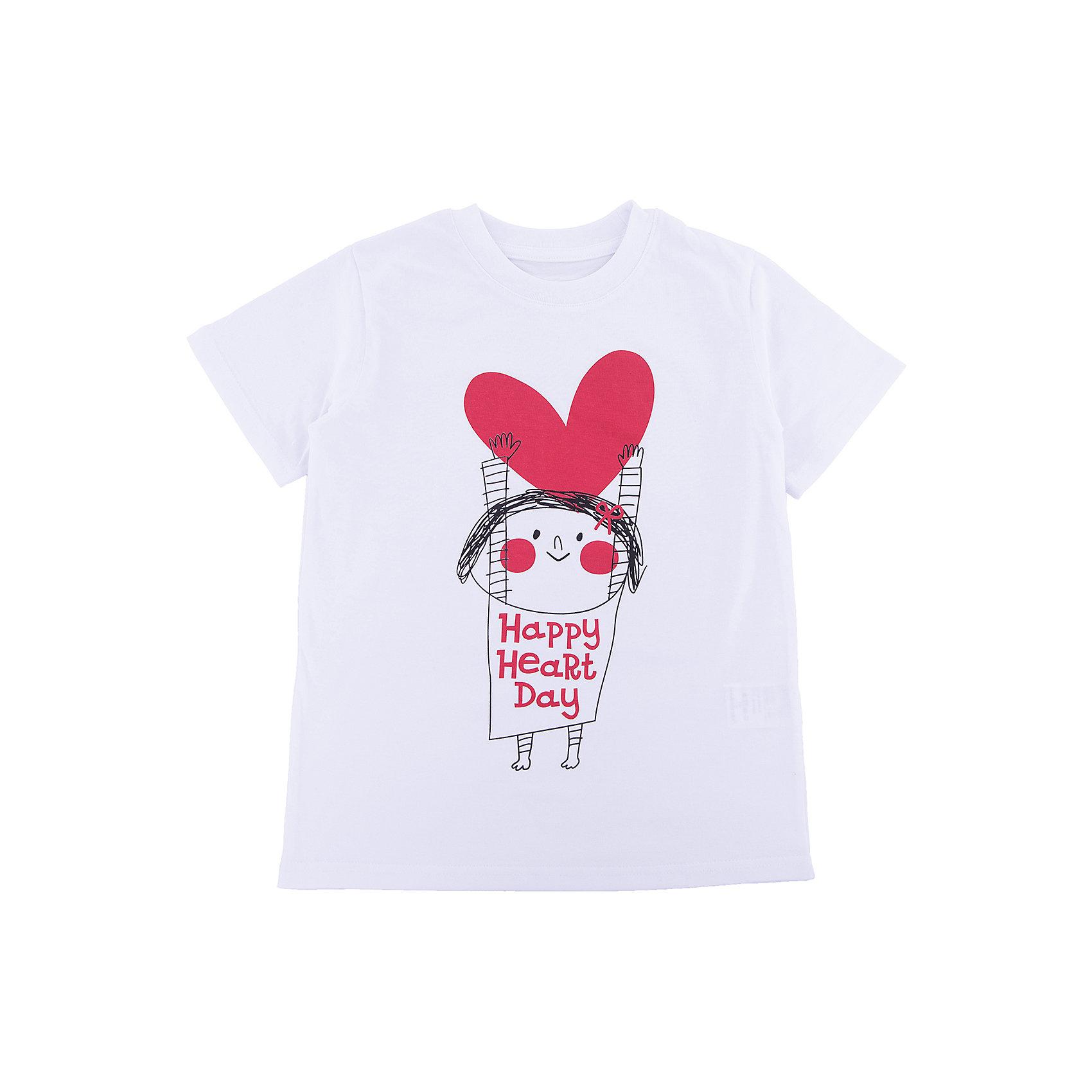 Футболка для девочки WOWФутболки, поло и топы<br>Футболка для девочки WOW<br>Незаменимой вещью в  гардеробе послужит футболка с коротким рукавом. Стильная и в тоже время комфортная модель, с яркой оригинальной печатью, будет превосходно смотреться на ребенке.<br>Состав:<br>кулирная гладь 100% хлопок<br><br>Ширина мм: 199<br>Глубина мм: 10<br>Высота мм: 161<br>Вес г: 151<br>Цвет: белый<br>Возраст от месяцев: 72<br>Возраст до месяцев: 84<br>Пол: Женский<br>Возраст: Детский<br>Размер: 122,98,104,110,116<br>SKU: 6871594