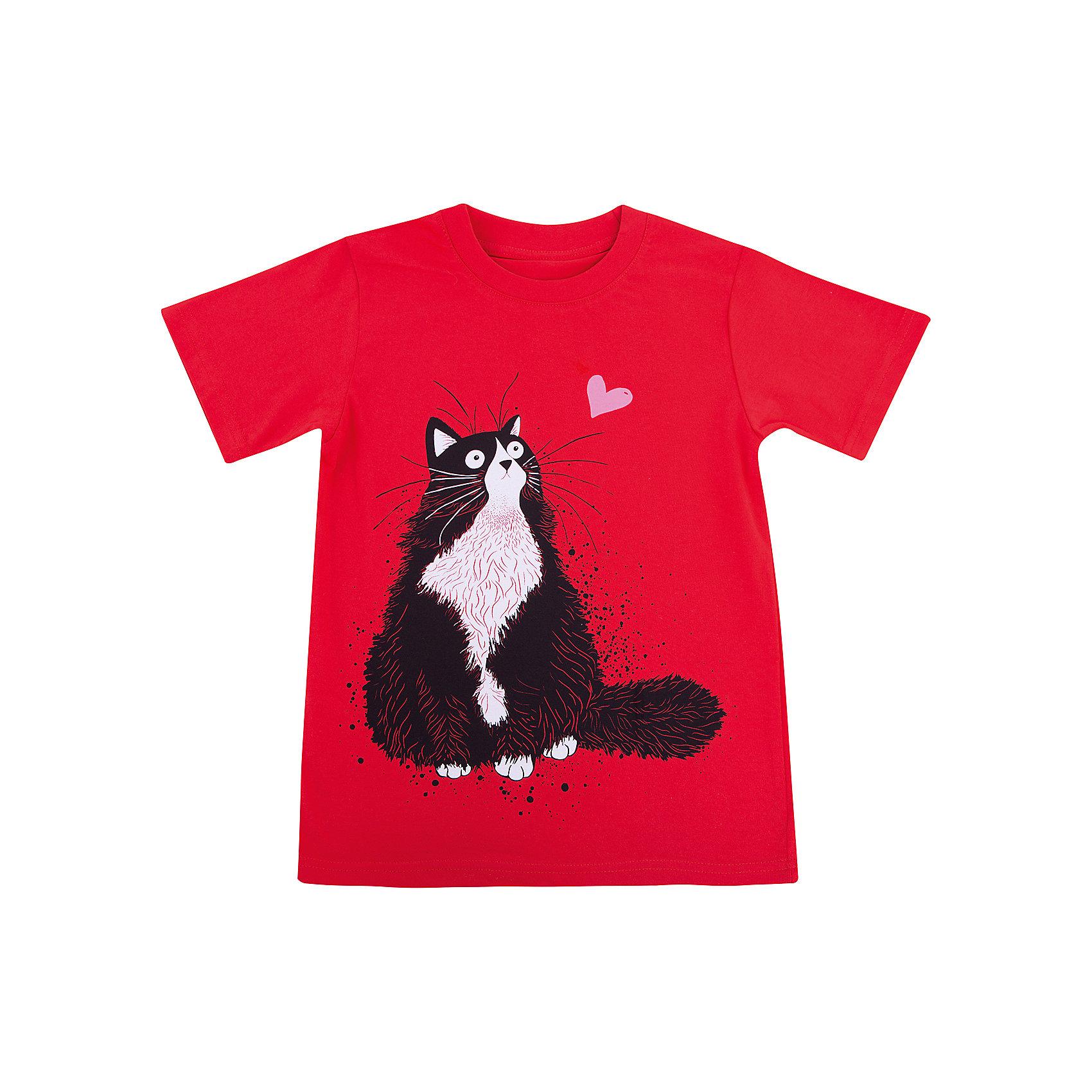Футболка для девочки WOWФутболки, поло и топы<br>Футболка для девочки WOW<br>Незаменимой вещью в  гардеробе послужит футболка с коротким рукавом. Стильная и в тоже время комфортная модель, с яркой оригинальной печатью, будет превосходно смотреться на ребенке.<br>Состав:<br>кулирная гладь 100% хлопок<br><br>Ширина мм: 199<br>Глубина мм: 10<br>Высота мм: 161<br>Вес г: 151<br>Цвет: красный<br>Возраст от месяцев: 84<br>Возраст до месяцев: 96<br>Пол: Женский<br>Возраст: Детский<br>Размер: 128,158,152,140,134<br>SKU: 6871600