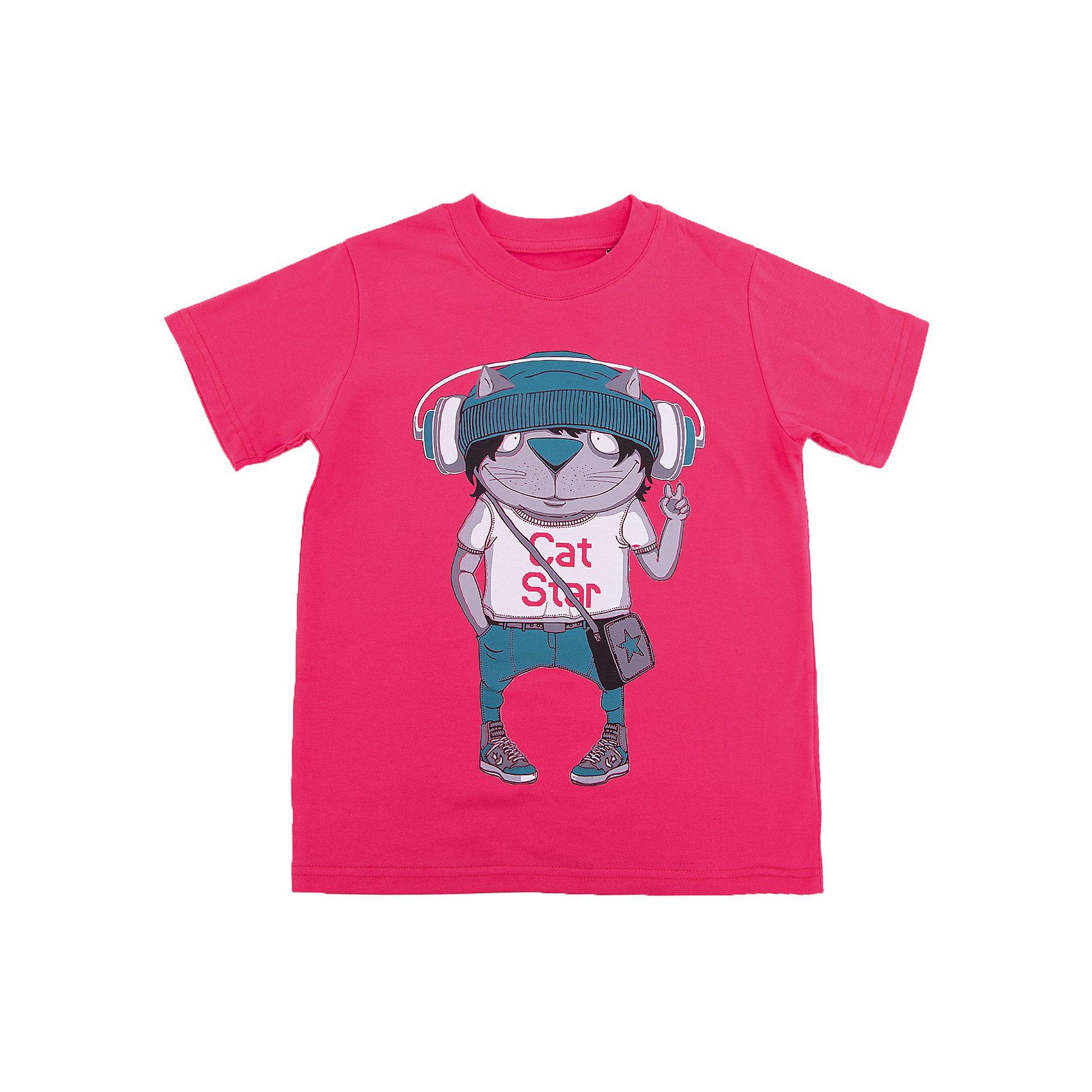 Футболка для мальчика WOWФутболки, поло и топы<br>Футболка для мальчика WOW<br>Незаменимой вещью в  гардеробе послужит футболка с коротким рукавом. Стильная и в тоже время комфортная модель, с яркой оригинальной печатью, будет превосходно смотреться на ребенке.<br>Состав:<br>кулирная гладь 100% хлопок<br><br>Ширина мм: 199<br>Глубина мм: 10<br>Высота мм: 161<br>Вес г: 151<br>Цвет: красный<br>Возраст от месяцев: 72<br>Возраст до месяцев: 84<br>Пол: Мужской<br>Возраст: Детский<br>Размер: 122,98,104,110,116<br>SKU: 6871620