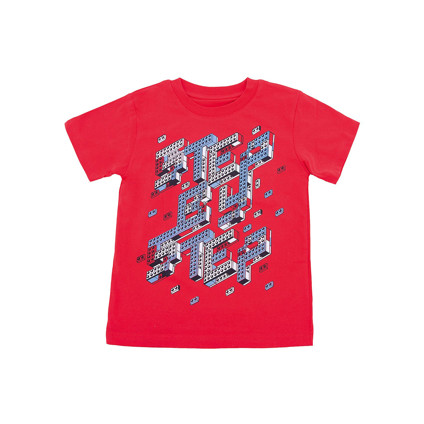 Футболка для мальчика WOWФутболки, поло и топы<br>Футболка для мальчика WOW<br>Незаменимой вещью в  гардеробе послужит футболка с коротким рукавом. Стильная и в тоже время комфортная модель, с яркой оригинальной печатью, будет превосходно смотреться на ребенке.<br>Состав:<br>кулирная гладь 100% хлопок<br><br>Ширина мм: 199<br>Глубина мм: 10<br>Высота мм: 161<br>Вес г: 151<br>Цвет: красный<br>Возраст от месяцев: 72<br>Возраст до месяцев: 84<br>Пол: Мужской<br>Возраст: Детский<br>Размер: 122,98,104,110,116<br>SKU: 6871626