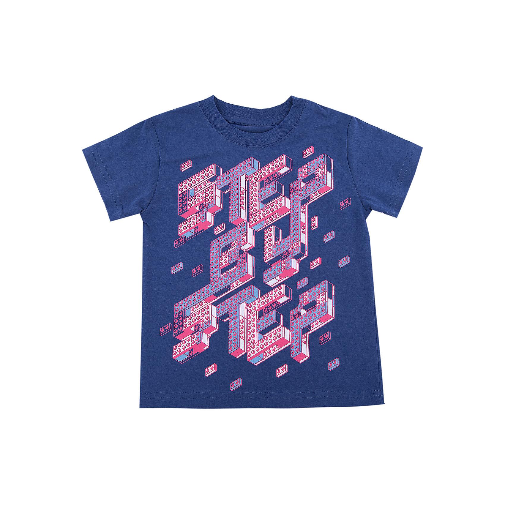 Футболка для мальчика WOWФутболки, поло и топы<br>Футболка для мальчика WOW<br>Незаменимой вещью в  гардеробе послужит футболка с коротким рукавом. Стильная и в тоже время комфортная модель, с яркой оригинальной печатью, будет превосходно смотреться на ребенке.<br>Состав:<br>кулирная гладь 100% хлопок<br><br>Ширина мм: 199<br>Глубина мм: 10<br>Высота мм: 161<br>Вес г: 151<br>Цвет: синий<br>Возраст от месяцев: 72<br>Возраст до месяцев: 84<br>Пол: Мужской<br>Возраст: Детский<br>Размер: 122,98,104,110,116<br>SKU: 6871632
