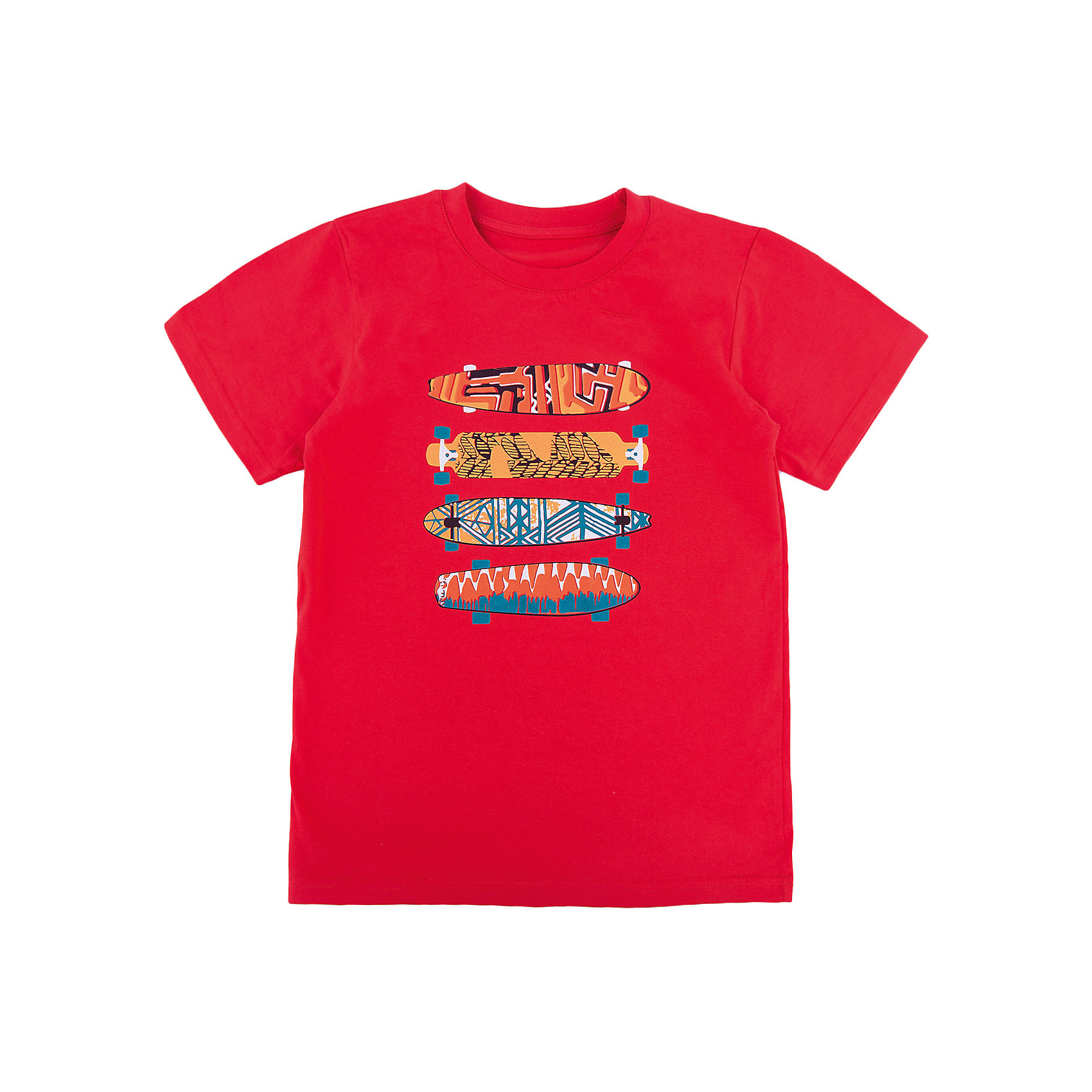 Футболка для мальчика WOWФутболки, поло и топы<br>Футболка для мальчика WOW<br>Незаменимой вещью в  гардеробе послужит футболка с коротким рукавом. Стильная и в тоже время комфортная модель, с яркой оригинальной печатью, будет превосходно смотреться на ребенке.<br>Состав:<br>кулирная гладь 100% хлопок<br><br>Ширина мм: 199<br>Глубина мм: 10<br>Высота мм: 161<br>Вес г: 151<br>Цвет: красный<br>Возраст от месяцев: 144<br>Возраст до месяцев: 156<br>Пол: Мужской<br>Возраст: Детский<br>Размер: 158,128,164,134,140,146,152<br>SKU: 6871723