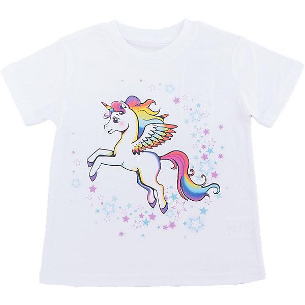 Футболка для девочки WOWФутболки, поло и топы<br>Футболка для девочки WOW<br>Незаменимой вещью в  гардеробе послужит футболка с коротким рукавом. Стильная и в тоже время комфортная модель, с яркой оригинальной печатью, будет превосходно смотреться на ребенке.<br>Состав:<br>кулирная гладь 100% хлопок<br><br>Ширина мм: 199<br>Глубина мм: 10<br>Высота мм: 161<br>Вес г: 151<br>Цвет: белый<br>Возраст от месяцев: 24<br>Возраст до месяцев: 36<br>Пол: Женский<br>Возраст: Детский<br>Размер: 98,122,116,110,104<br>SKU: 6871739