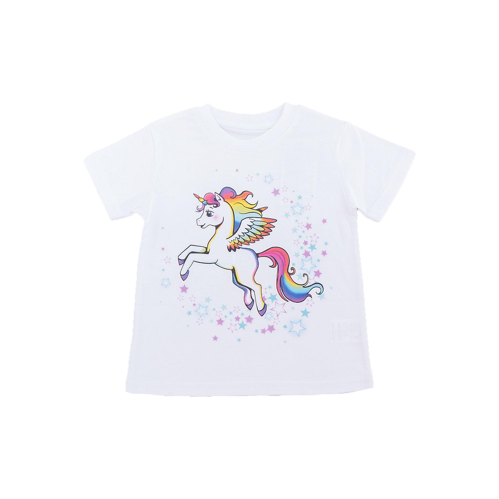 Футболка для девочки WOWФутболки, поло и топы<br>Футболка для девочки WOW<br>Незаменимой вещью в  гардеробе послужит футболка с коротким рукавом. Стильная и в тоже время комфортная модель, с яркой оригинальной печатью, будет превосходно смотреться на ребенке.<br>Состав:<br>кулирная гладь 100% хлопок<br><br>Ширина мм: 199<br>Глубина мм: 10<br>Высота мм: 161<br>Вес г: 151<br>Цвет: белый<br>Возраст от месяцев: 72<br>Возраст до месяцев: 84<br>Пол: Женский<br>Возраст: Детский<br>Размер: 122,98,104,110,116<br>SKU: 6871739