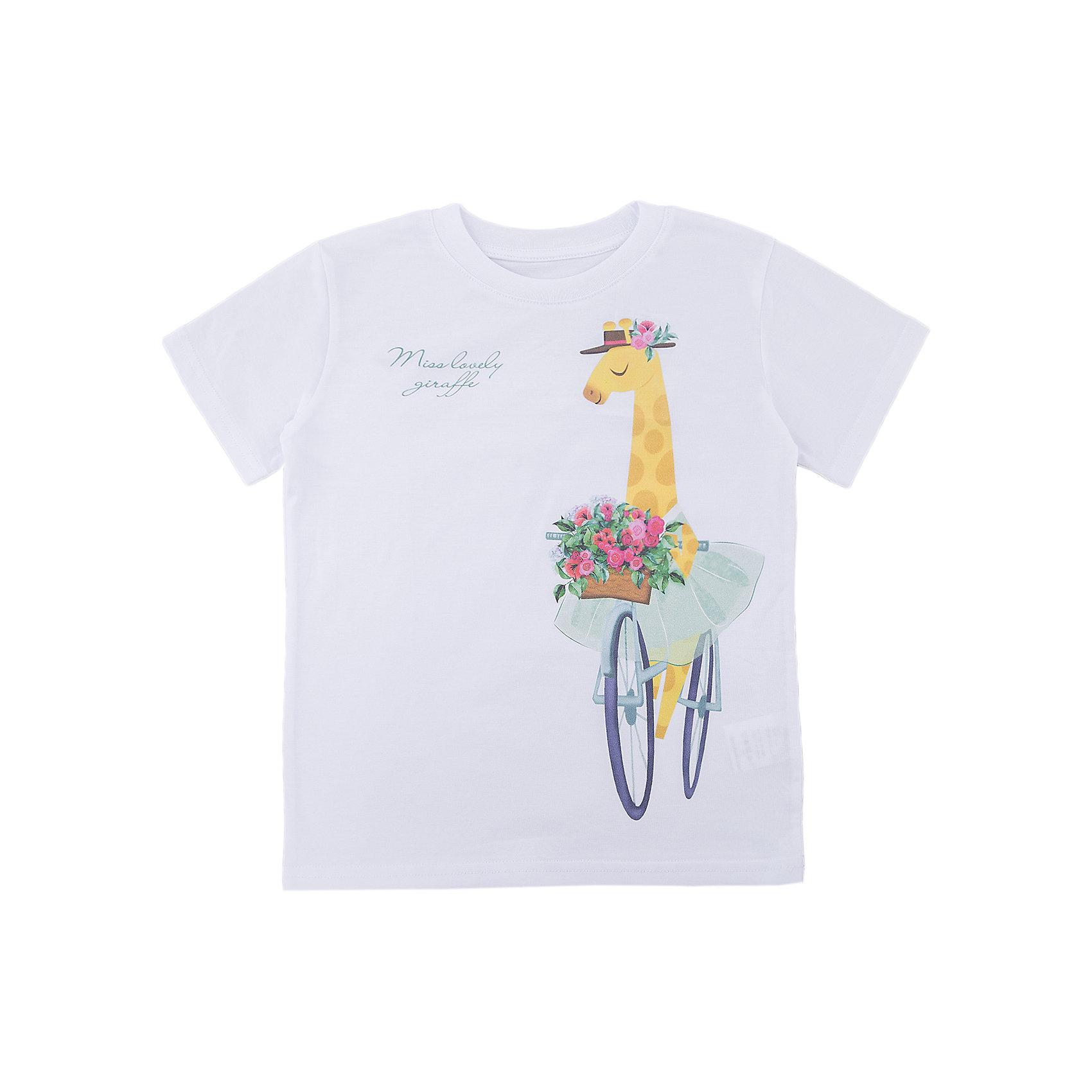 Футболка для девочки WOWФутболки, поло и топы<br>Футболка для девочки WOW<br>Незаменимой вещью в  гардеробе послужит футболка с коротким рукавом. Стильная и в тоже время комфортная модель, с яркой оригинальной печатью, будет превосходно смотреться на ребенке.<br>Состав:<br>кулирная гладь 100% хлопок<br><br>Ширина мм: 199<br>Глубина мм: 10<br>Высота мм: 161<br>Вес г: 151<br>Цвет: белый<br>Возраст от месяцев: 72<br>Возраст до месяцев: 84<br>Пол: Женский<br>Возраст: Детский<br>Размер: 122,98,104,110,116<br>SKU: 6871757
